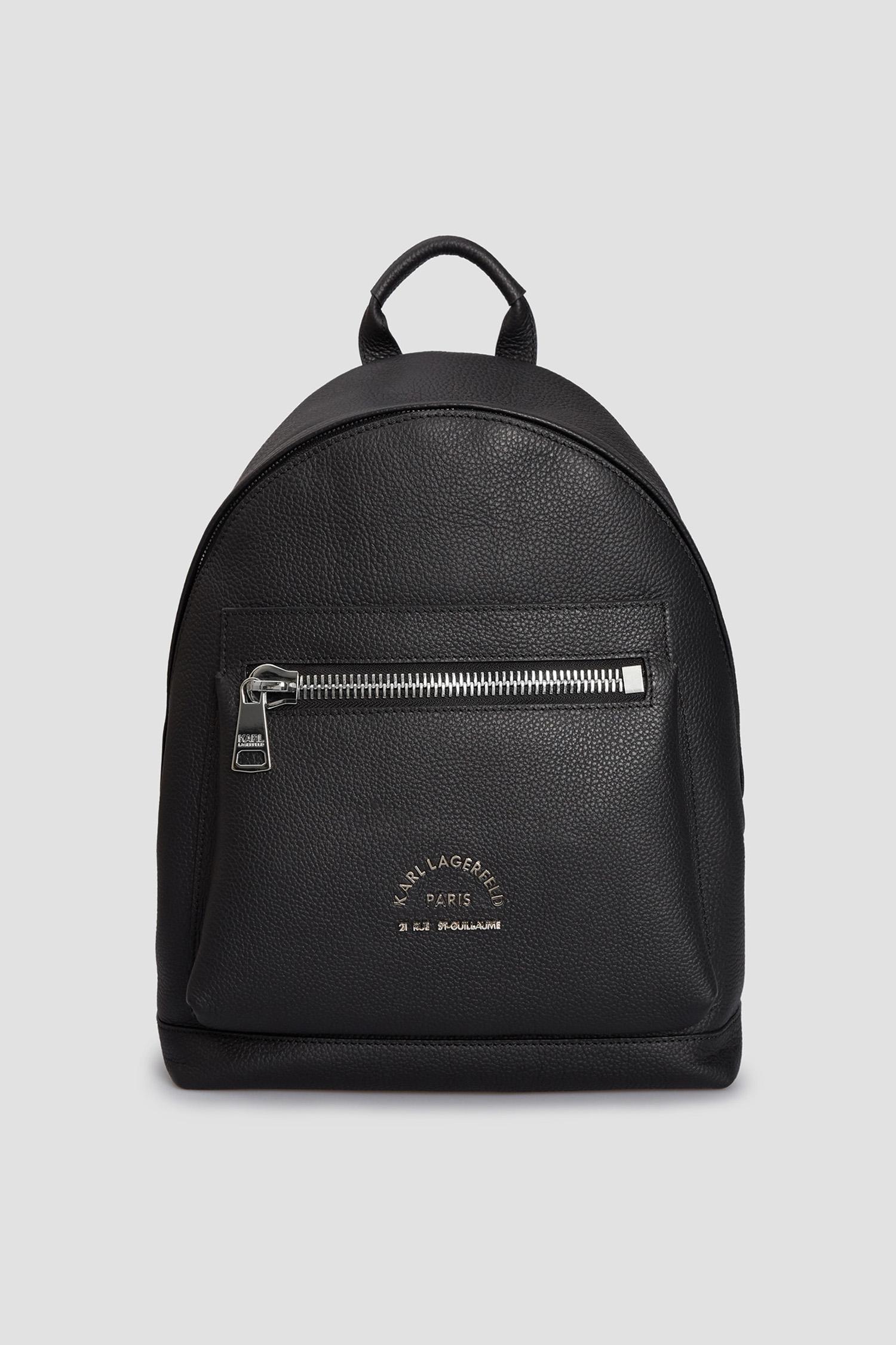 Чоловічий чорний шкіряний рюкзак Karl Lagerfeld 511451.815908;990