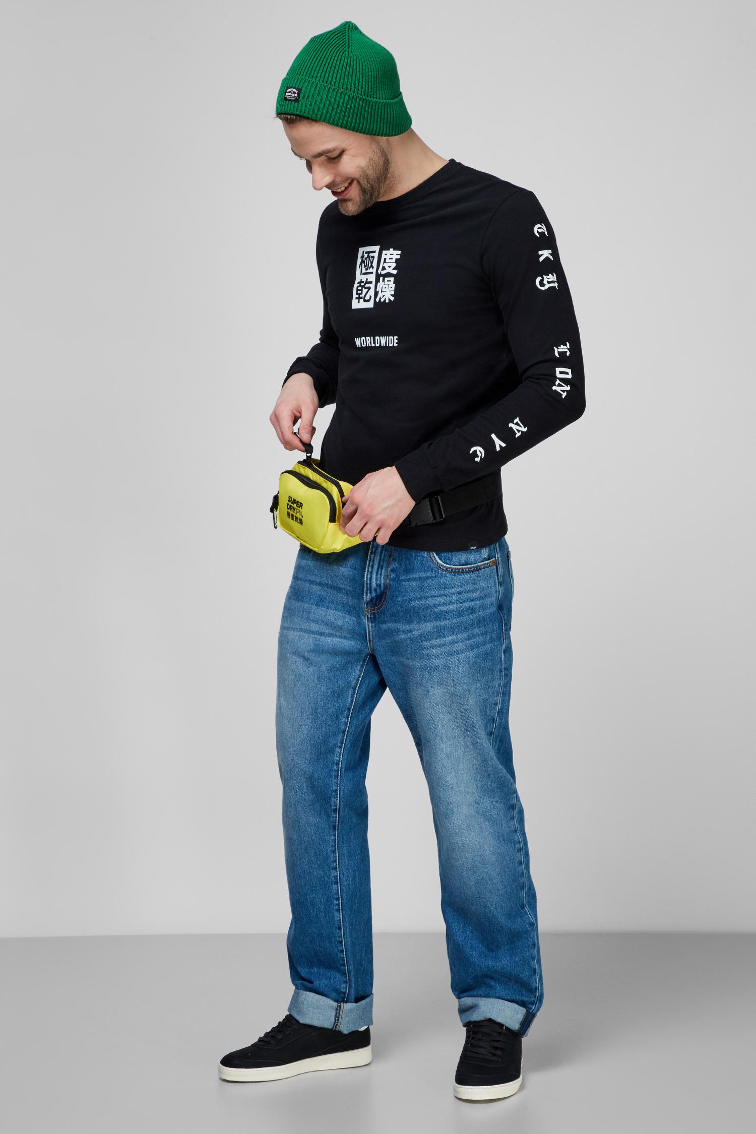Мужской черный лонгслив SuperDry M6010165A;02A
