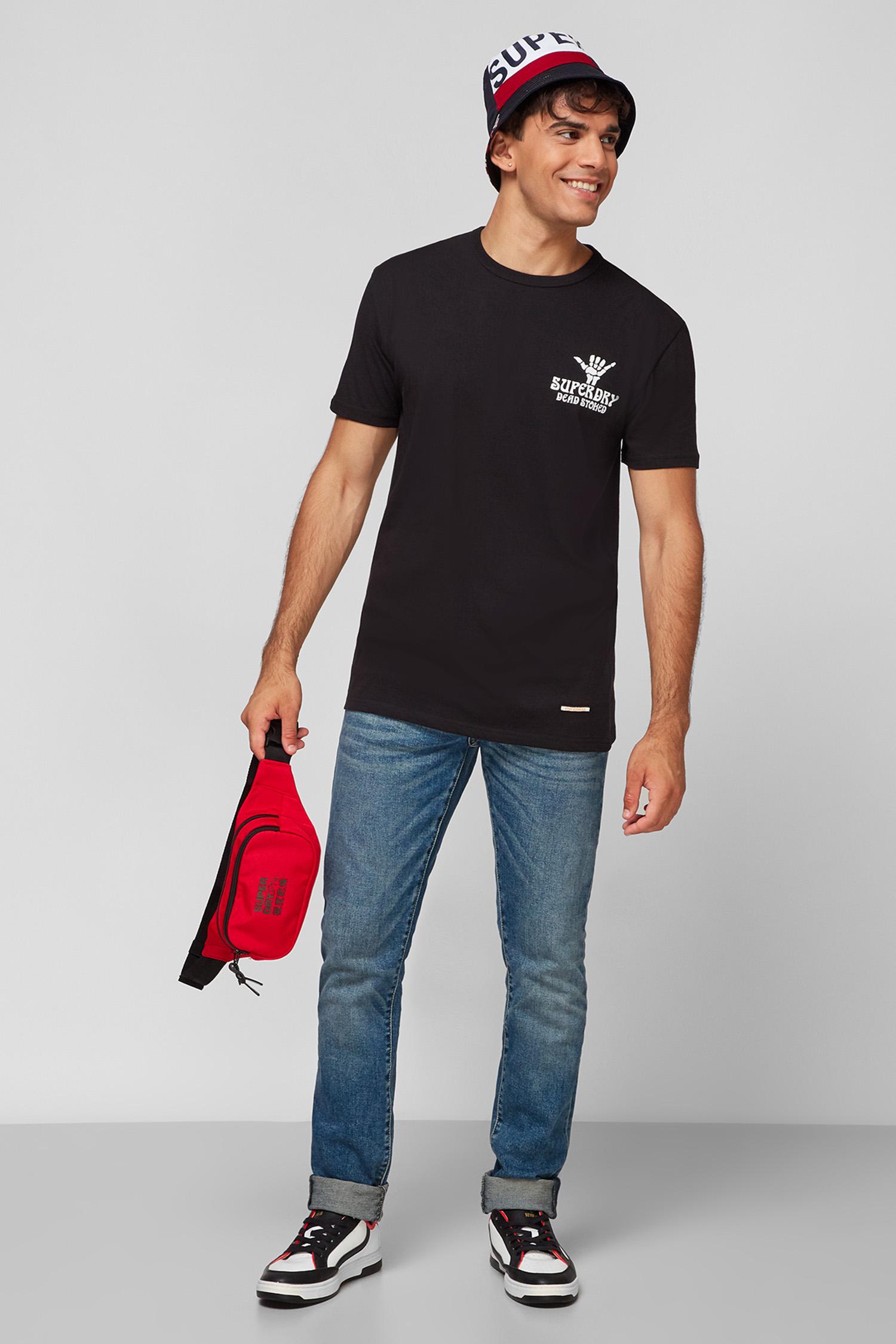 Чоловіча чорна футболка SuperDry M1010892A;02A