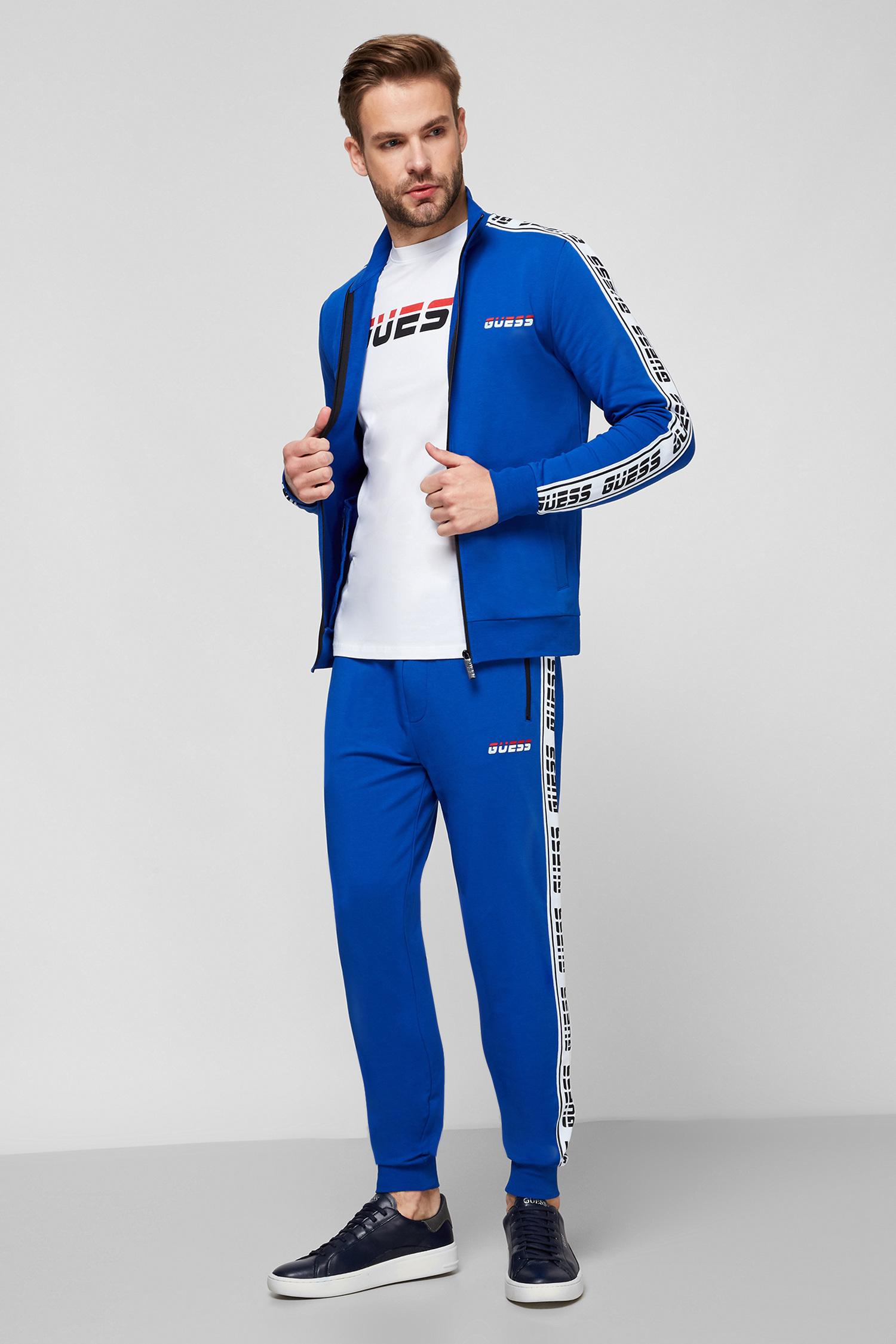 Мужская синяя спортивная кофта Guess U0BA33.K6XF0;A743