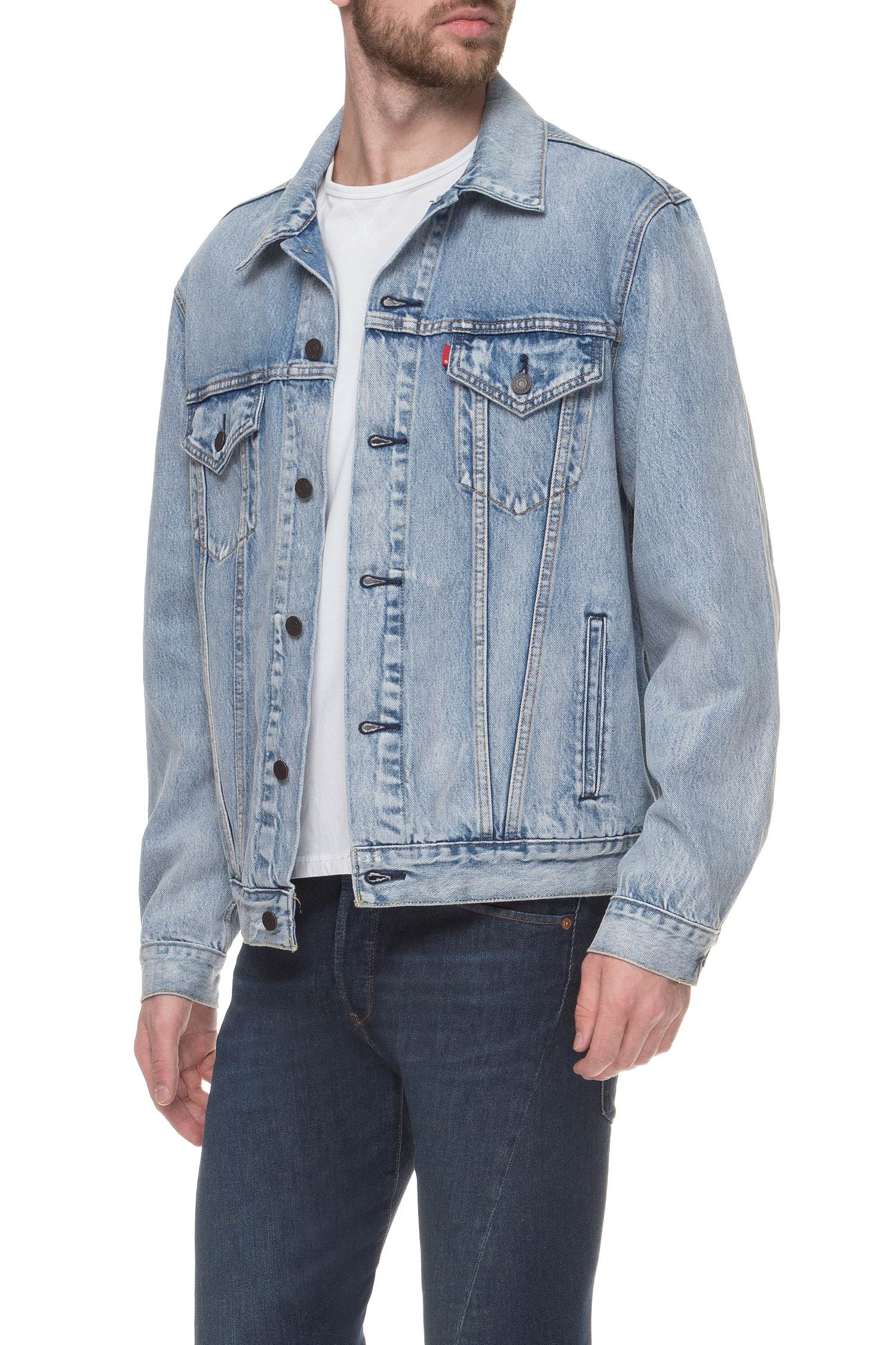 Мужская голубая джинсовая куртка Levi's 77380;0005