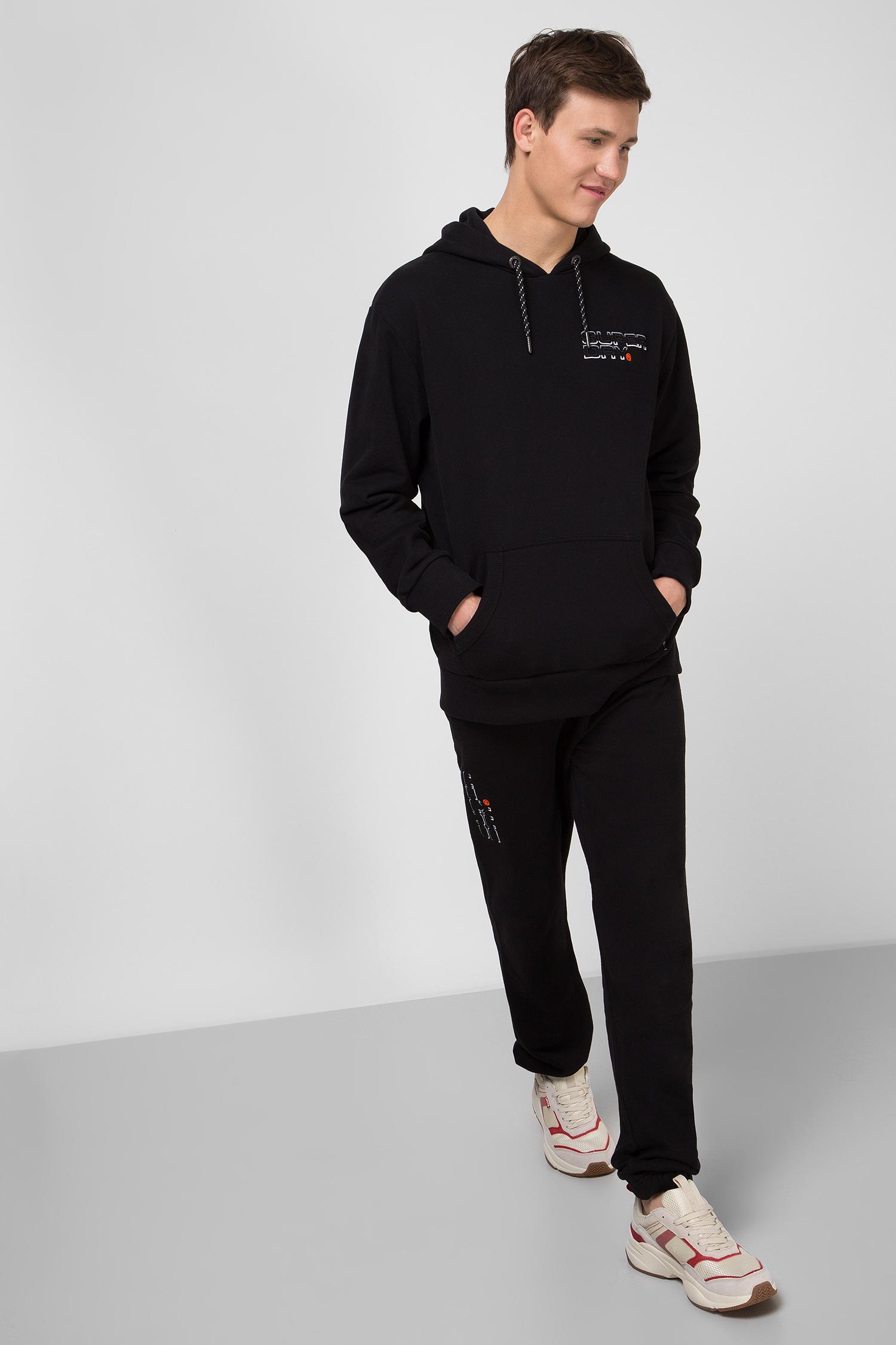 Мужское черное худи Trophy Embroidery SuperDry M2000126A;02A