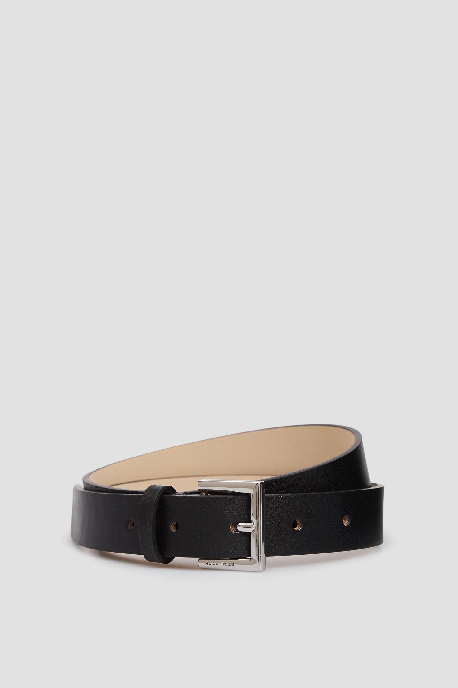 Женский черный кожаный ремень BOSS 50413182;001