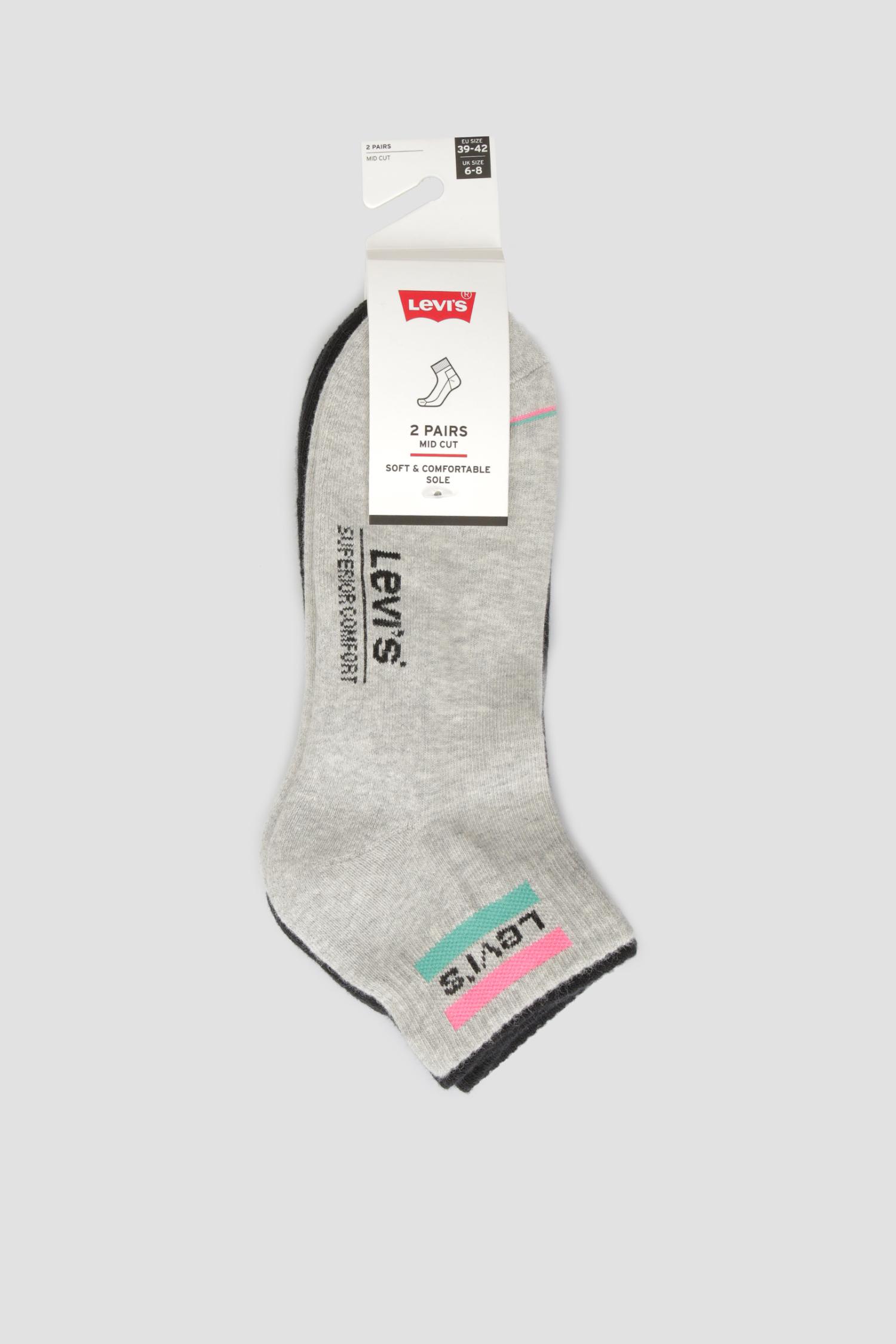 Хлопковые носки (2 пары) Levi's 902011001;010