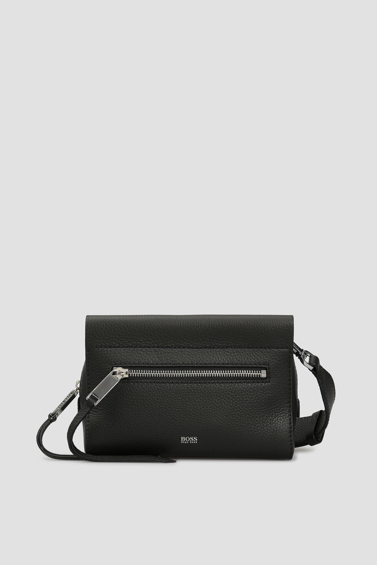 Черная кожаная сумка через плечо для девушек BOSS 50435326;001