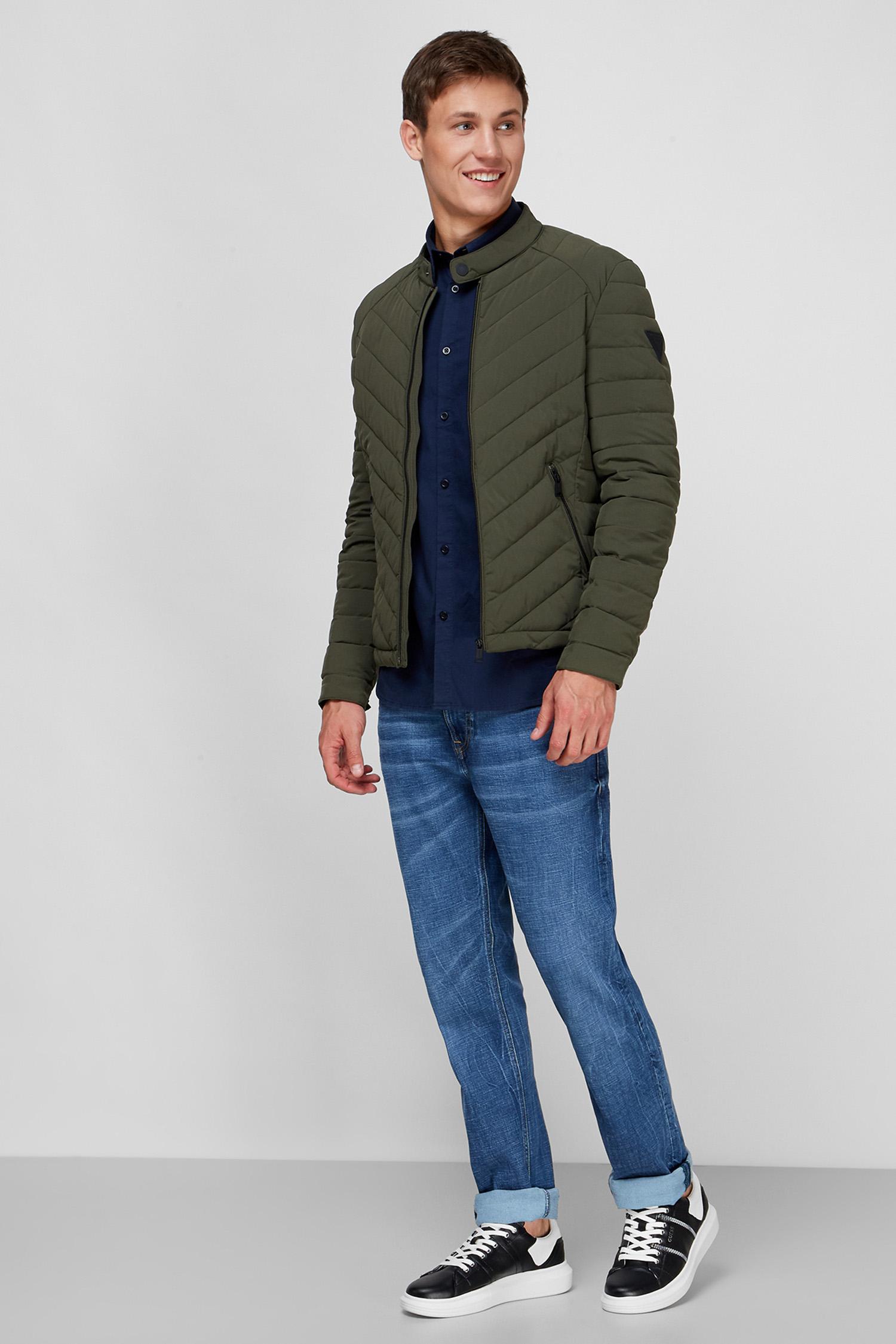 Мужская зеленая куртка Guess M0YL05.WCOG0;G8X8