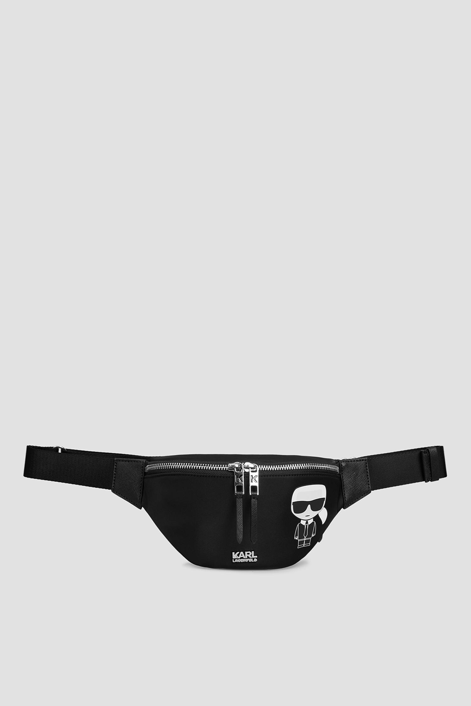Чоловіча чорна поясна сумка Karl Lagerfeld 511199.805913;990