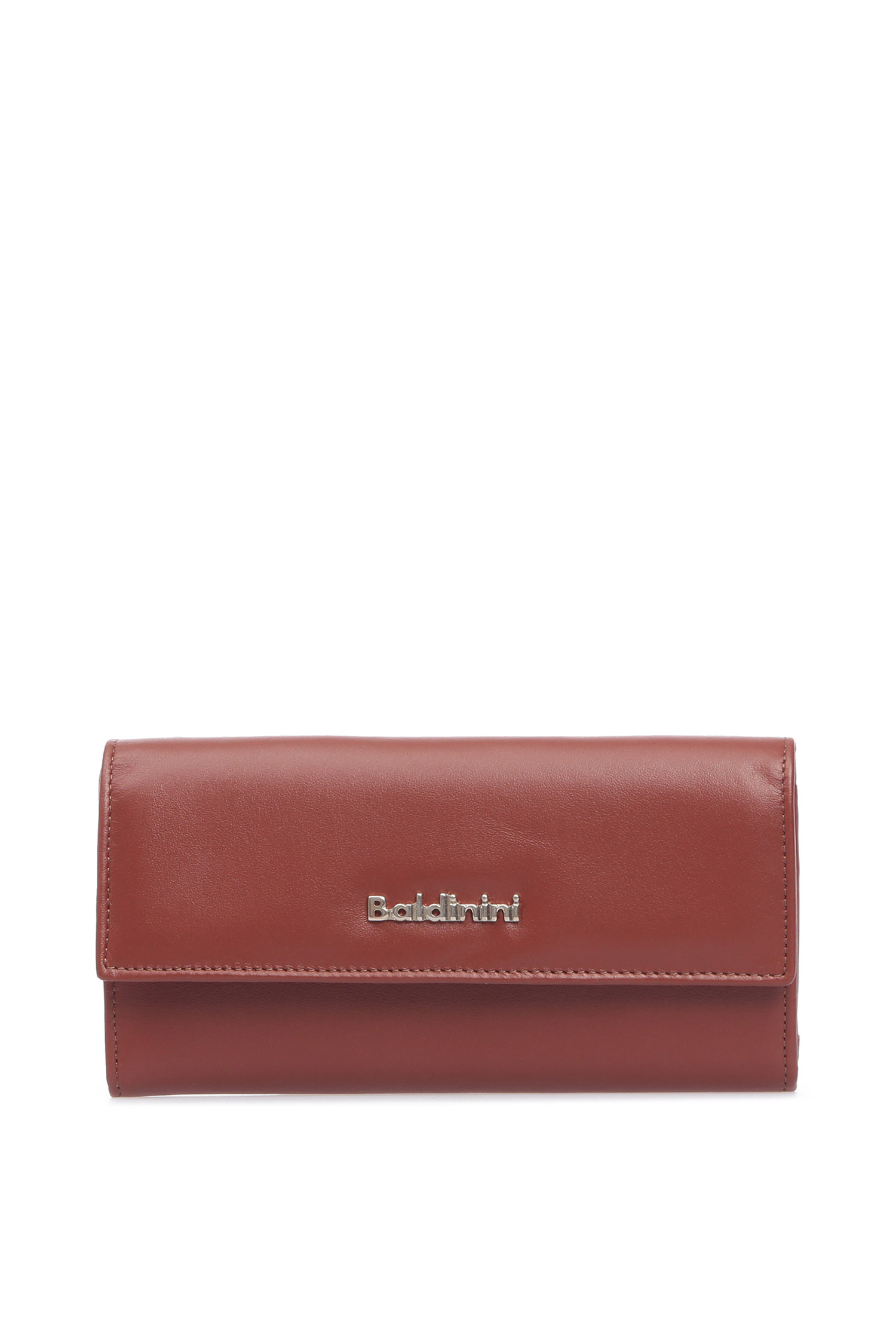 Женский коричневый кожаный кошелек Baldinini 870353;3080