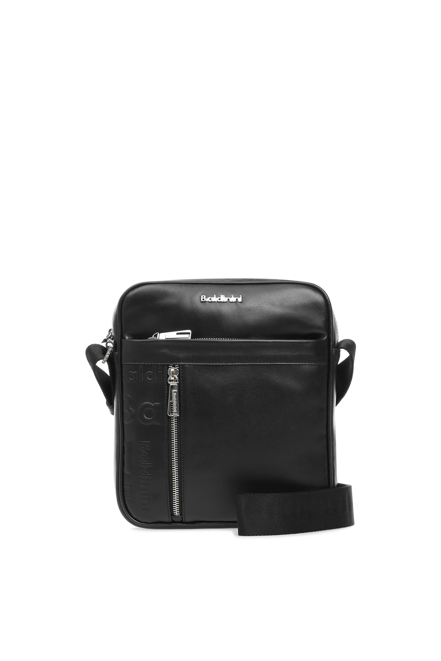 Мужская черная кожаная сумка через плечо Baldinini CA0009;00