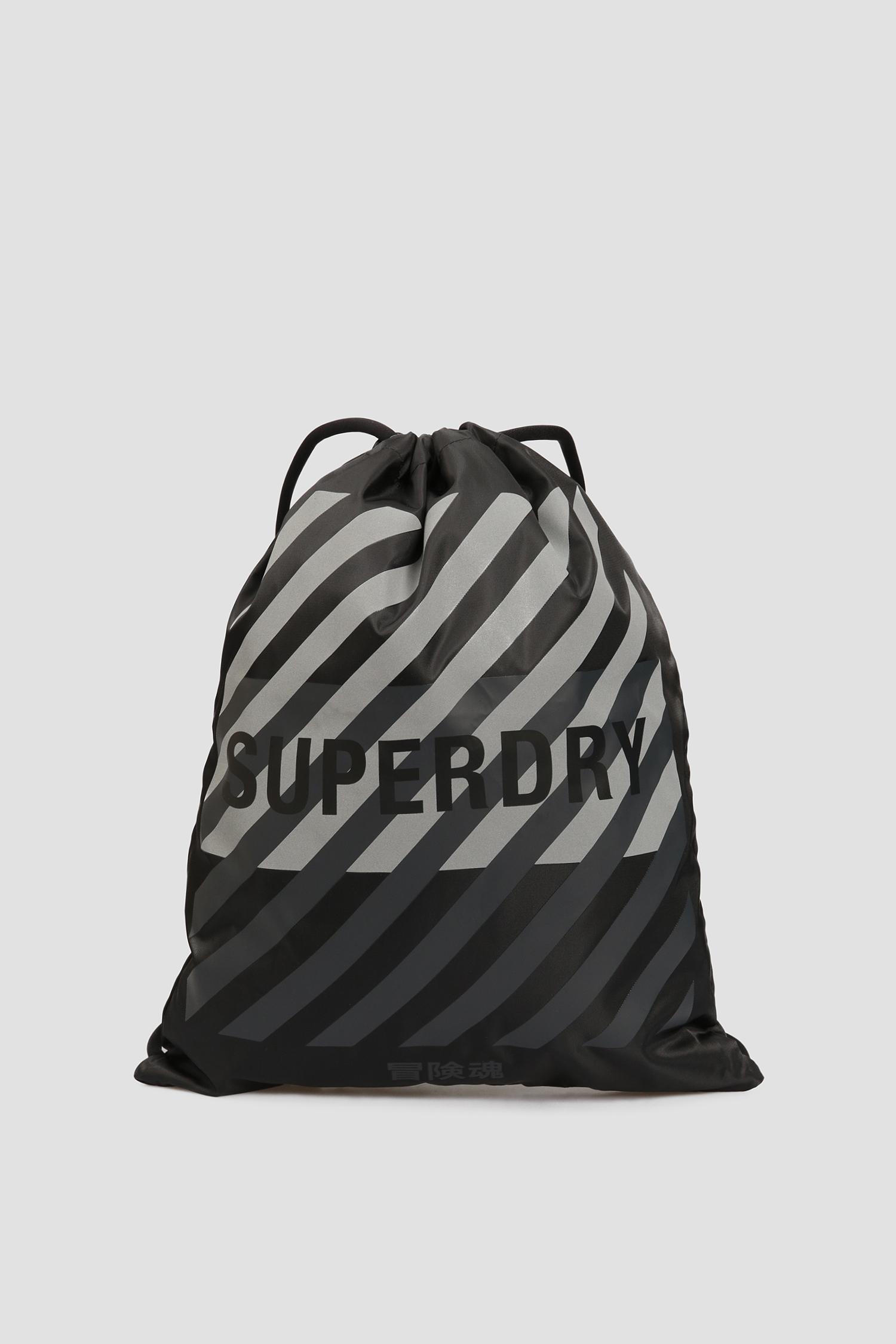 Мужской черный рюкзак SuperDry MS410034A;02A