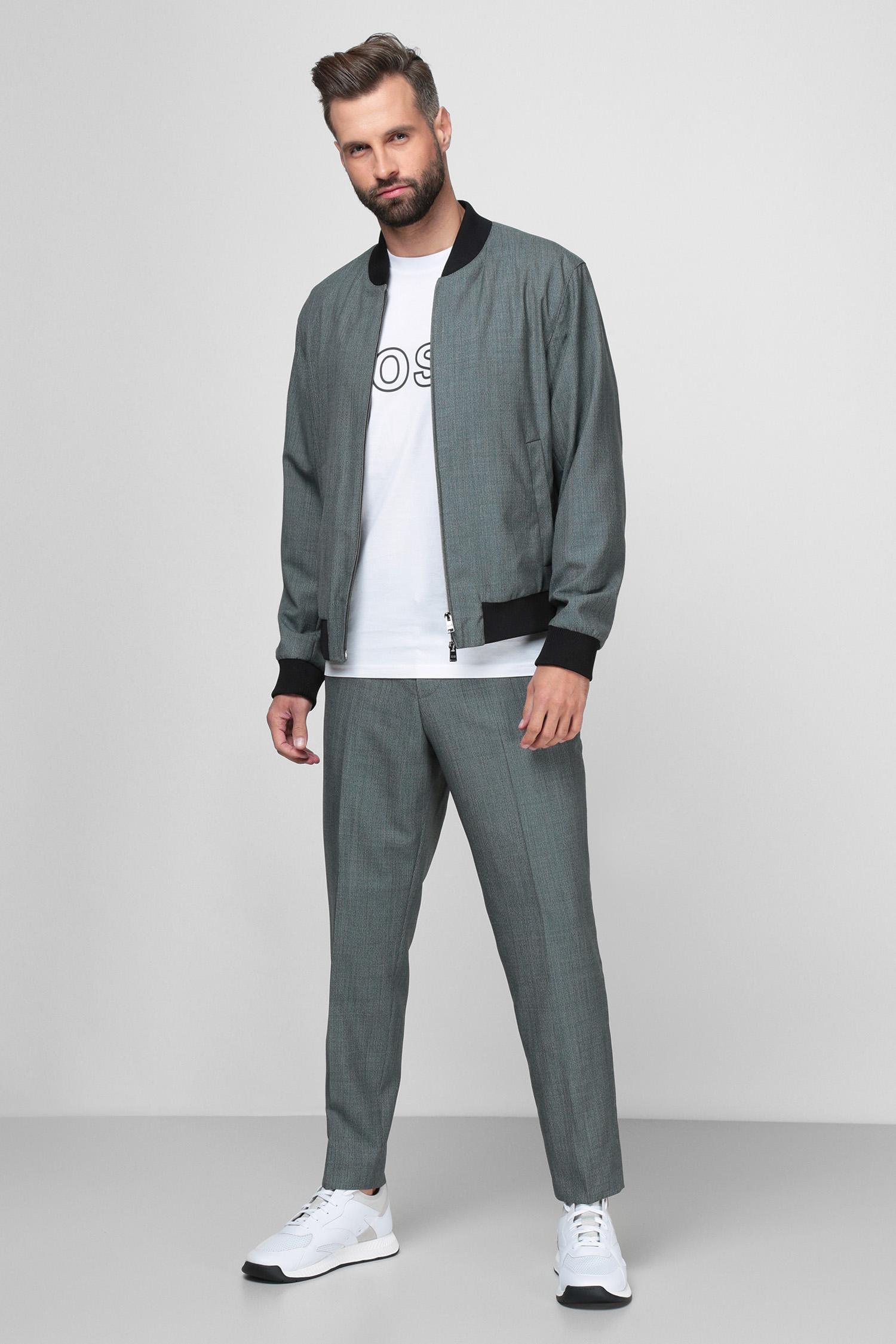 Чоловічі сірі вовняні брюки BOSS 50453739;447