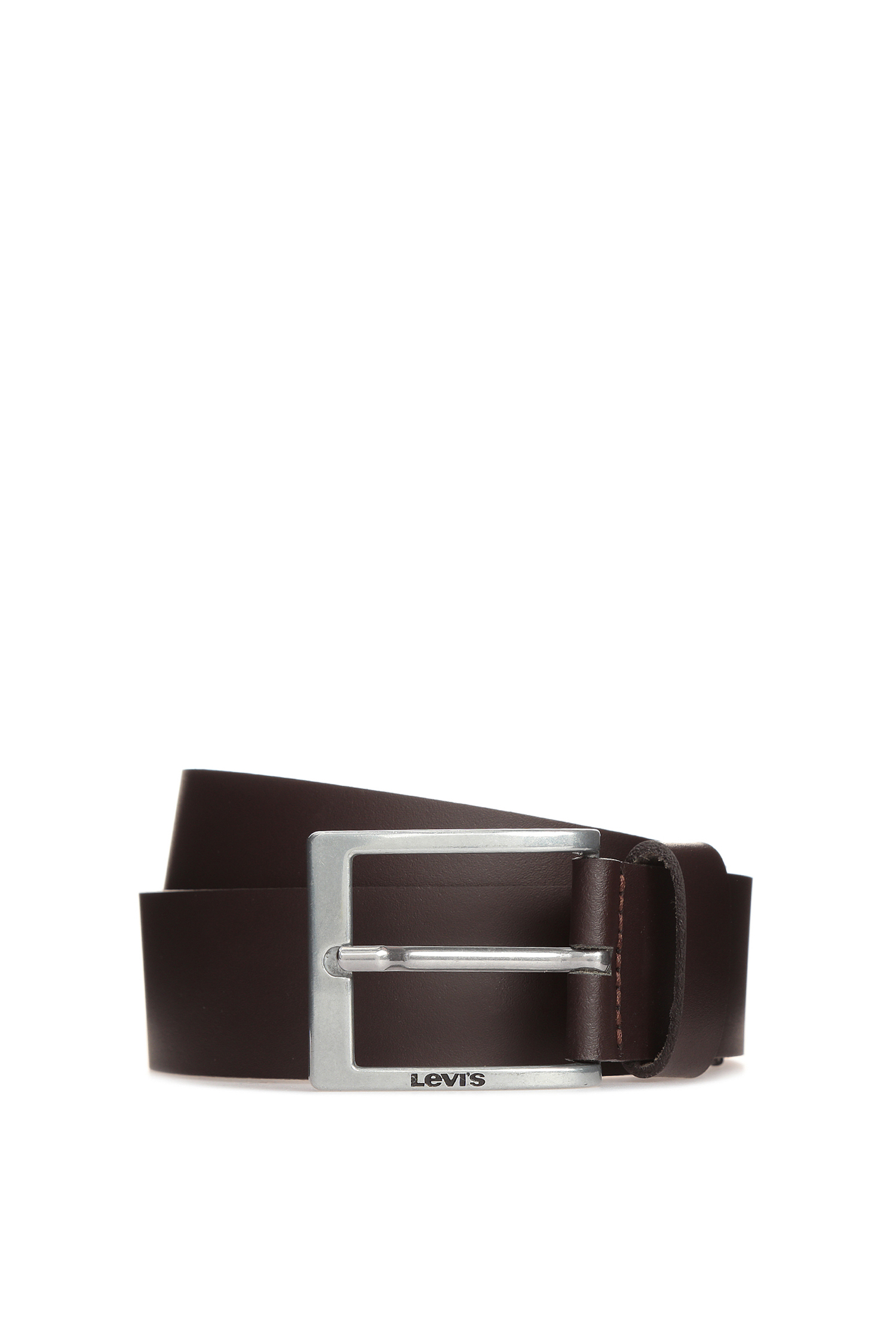Мужской коричневый кожаный ремень Levi's 225568;3.29