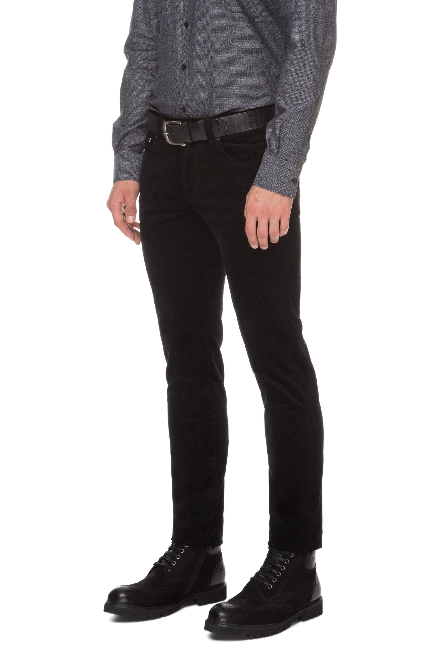 Мужские черные вельветовые брюки Karl Lagerfeld 592822.265840;990