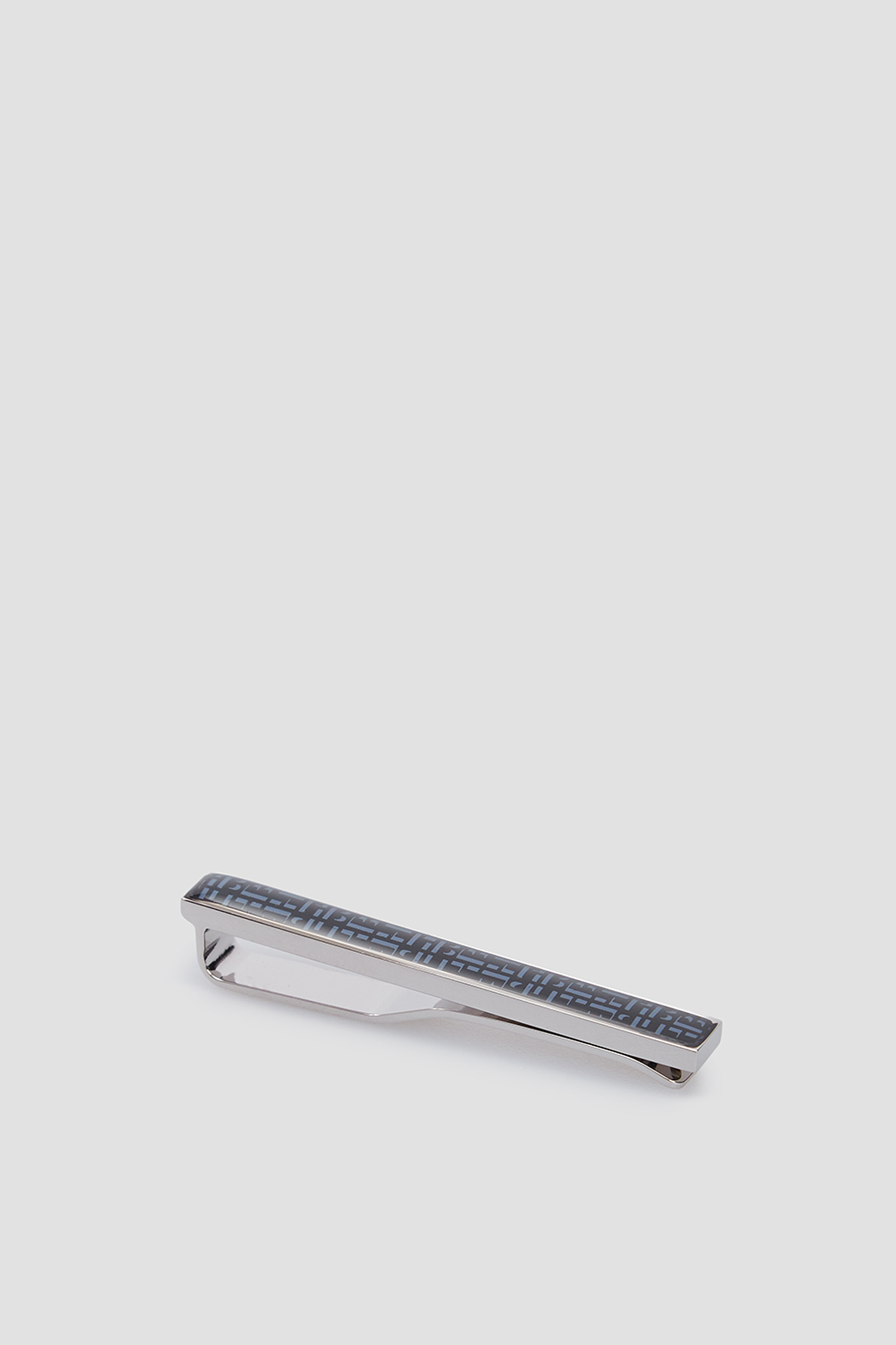 Мужской серебристый зажим для галстука BOSS 50447890;463