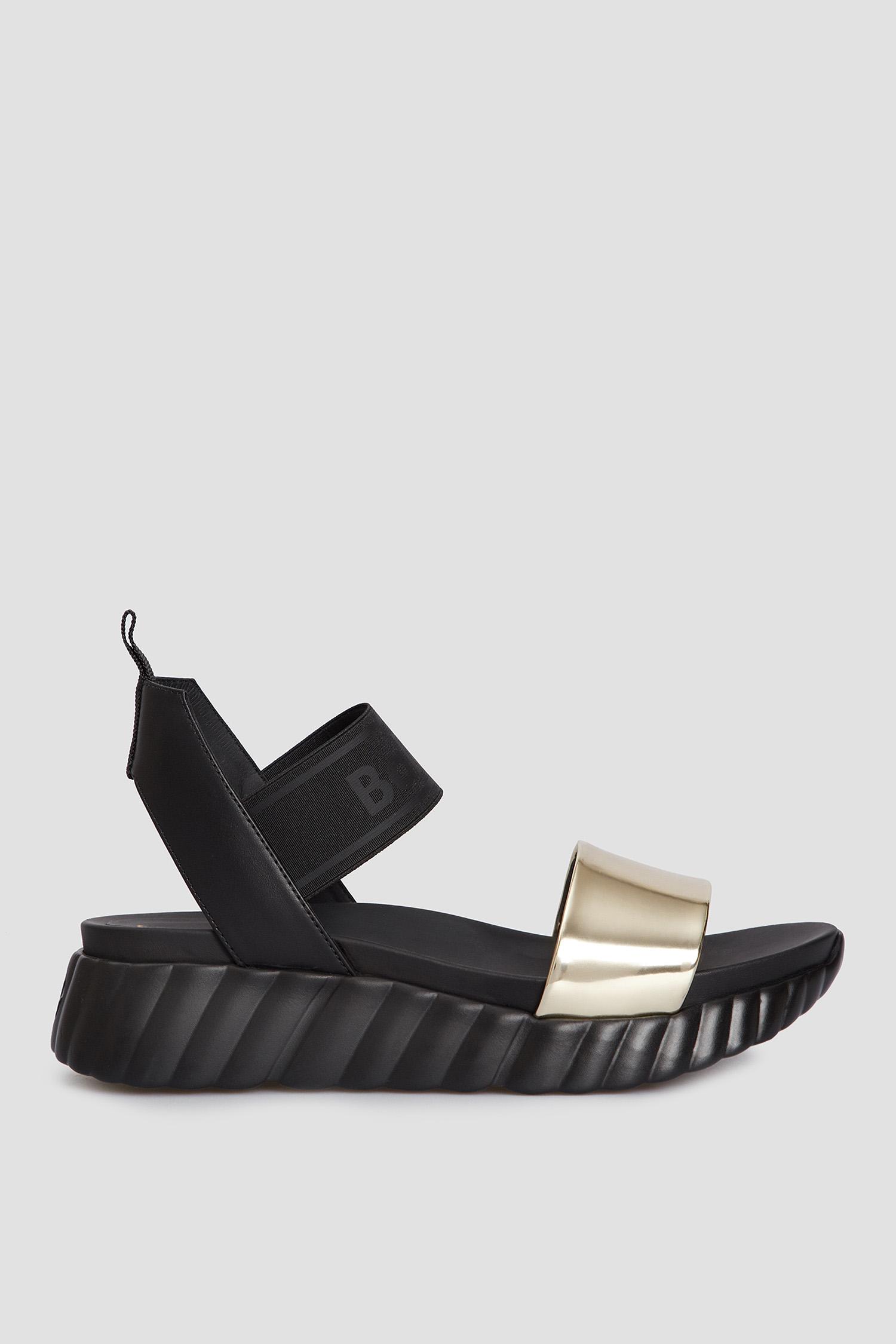 Кожаные черные сандалии для девушек Baldinini 199012;0086