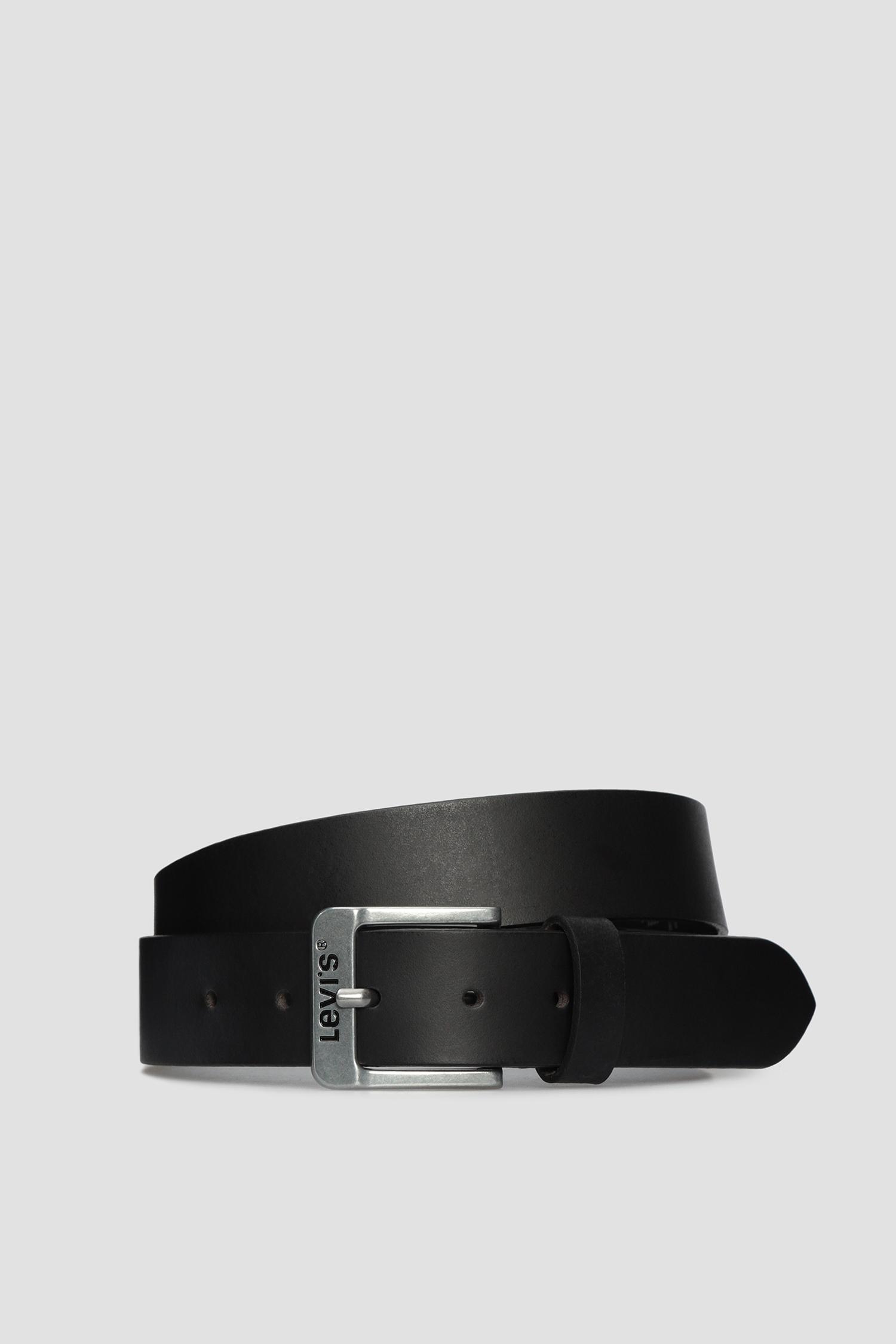 Мужской черный кожаный ремень Levi's 5117;3.59