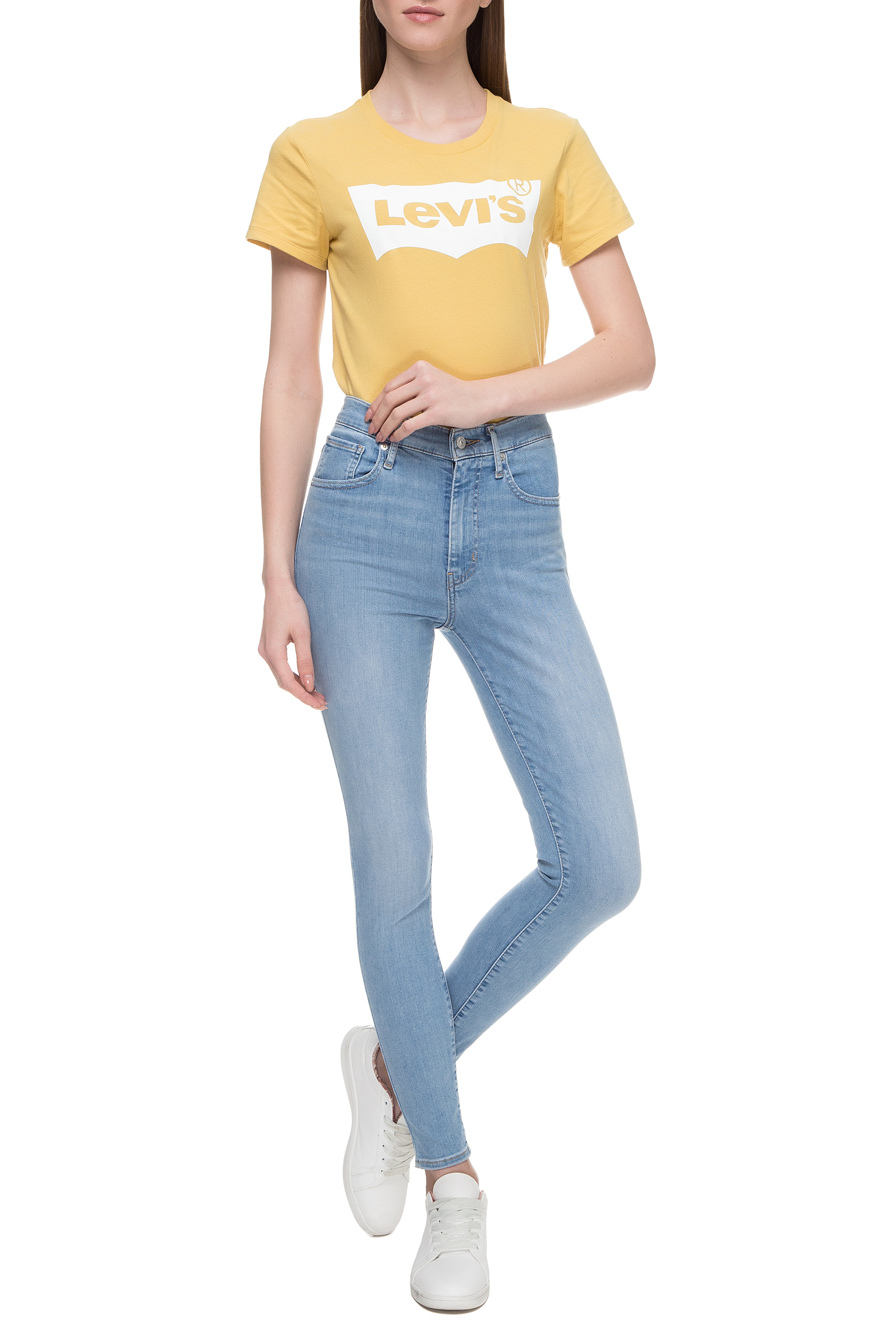 Женские голубые джинсы Mile High Super Skinny Levi's 22791;0110