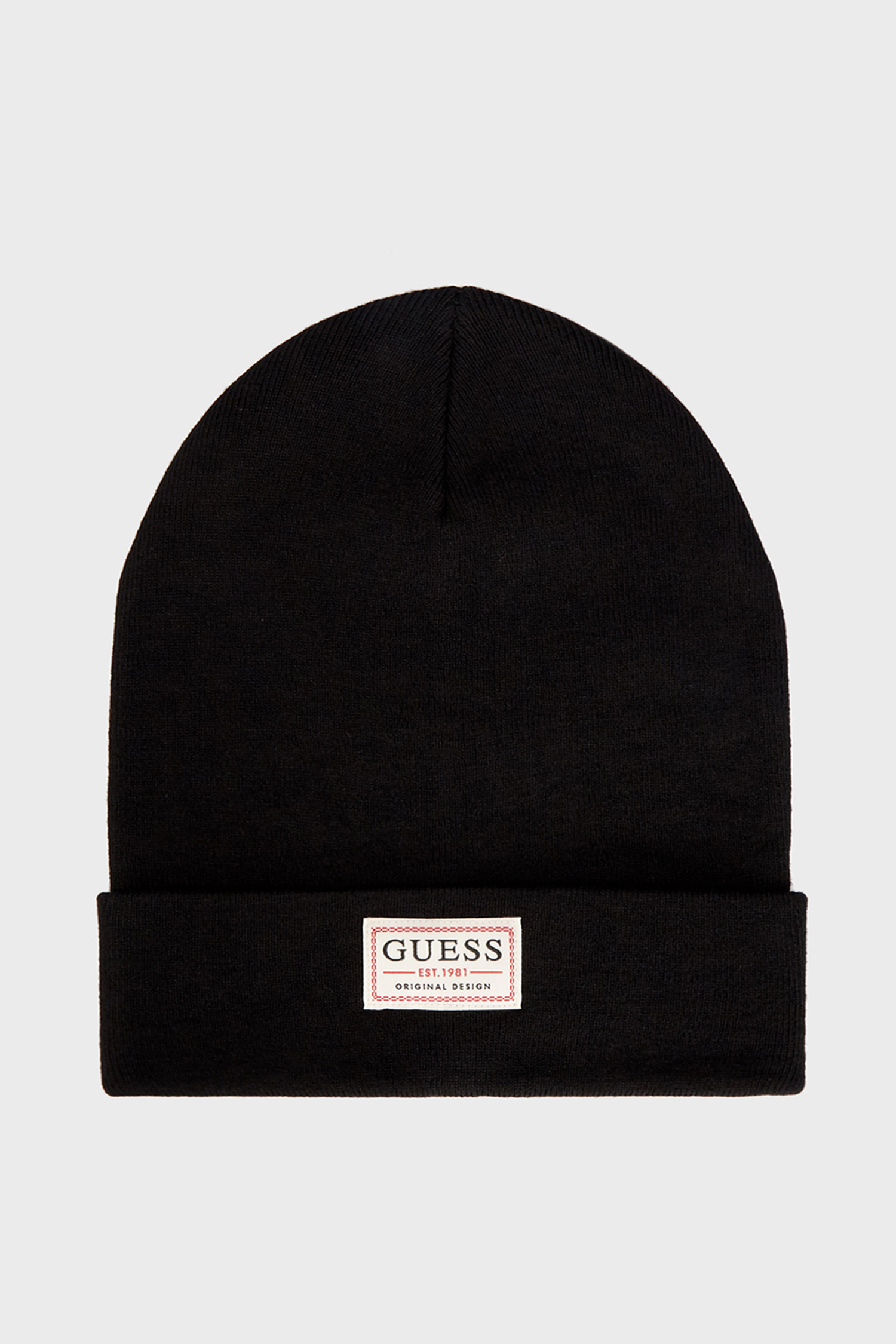 Мужская черная шапка Guess AM8731.WOL01;BLA