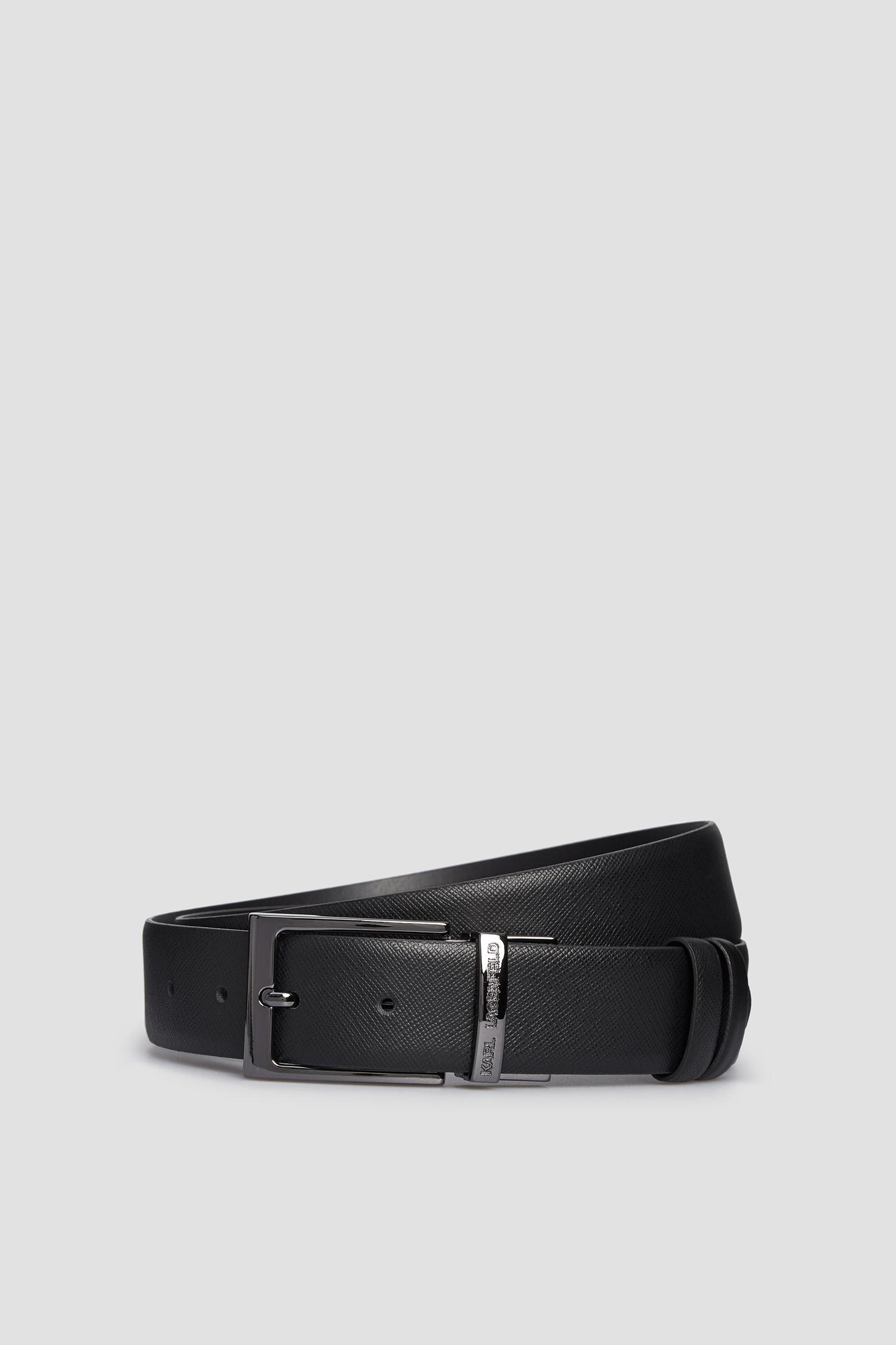 Мужской черный кожаный двухсторонний ремень Karl Lagerfeld 502453.815300;990