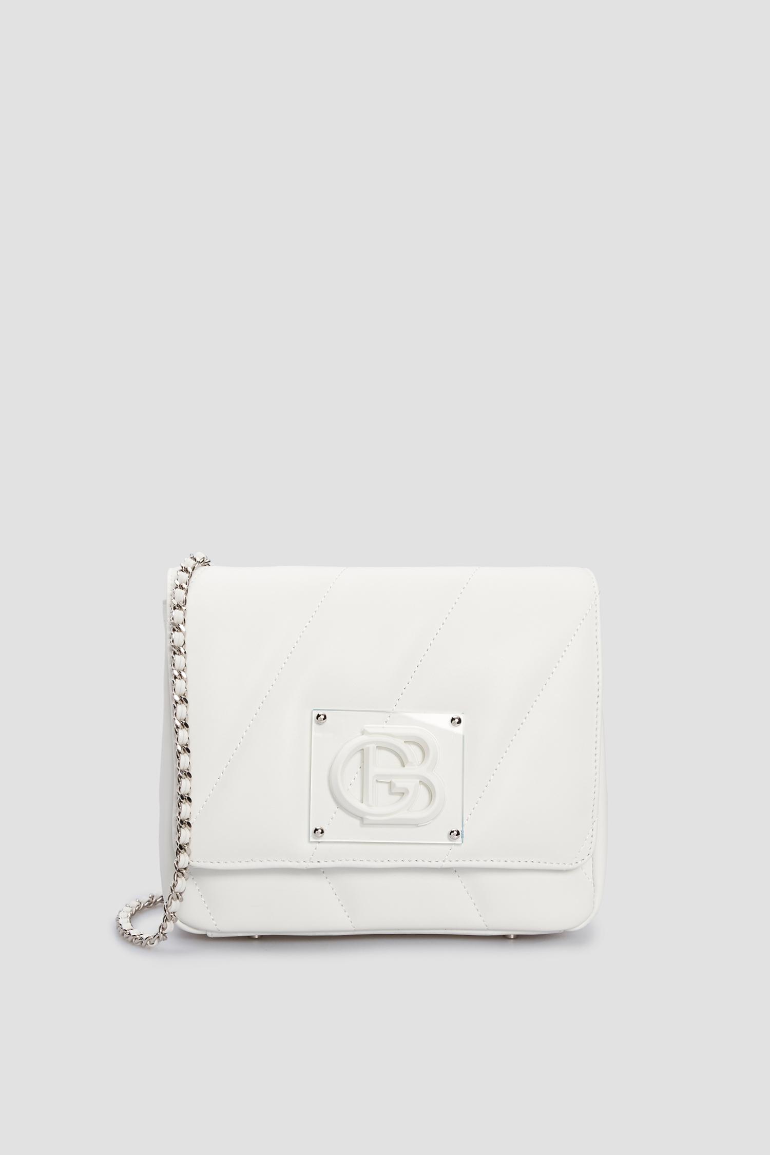 Женская белая кожаная сумка через плечо Baldinini 170214;9002