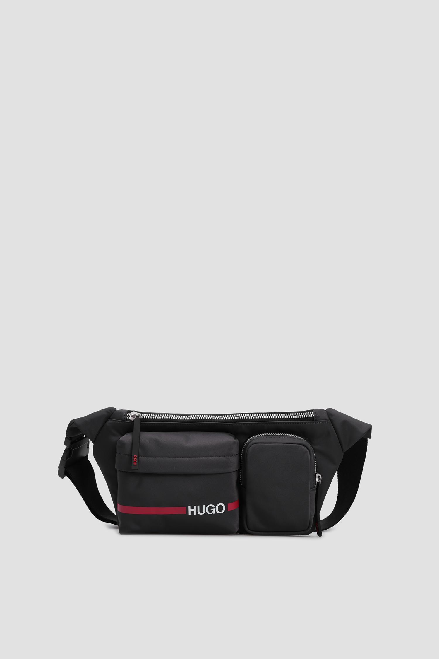 Мужская серая поясная сумка HUGO 50431645;021