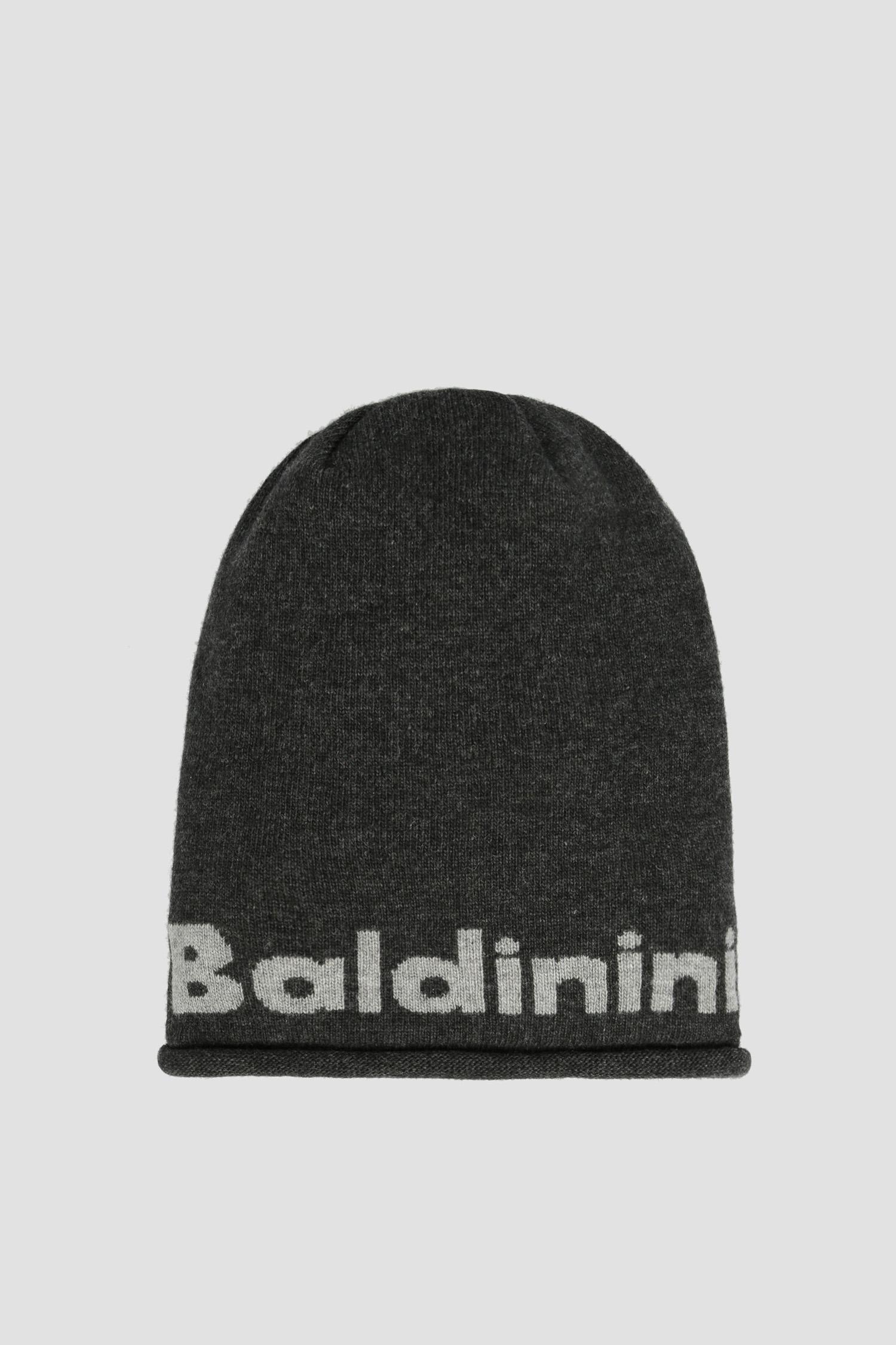 Темно-серая шерстяная шапка для парней Baldinini 121003;06
