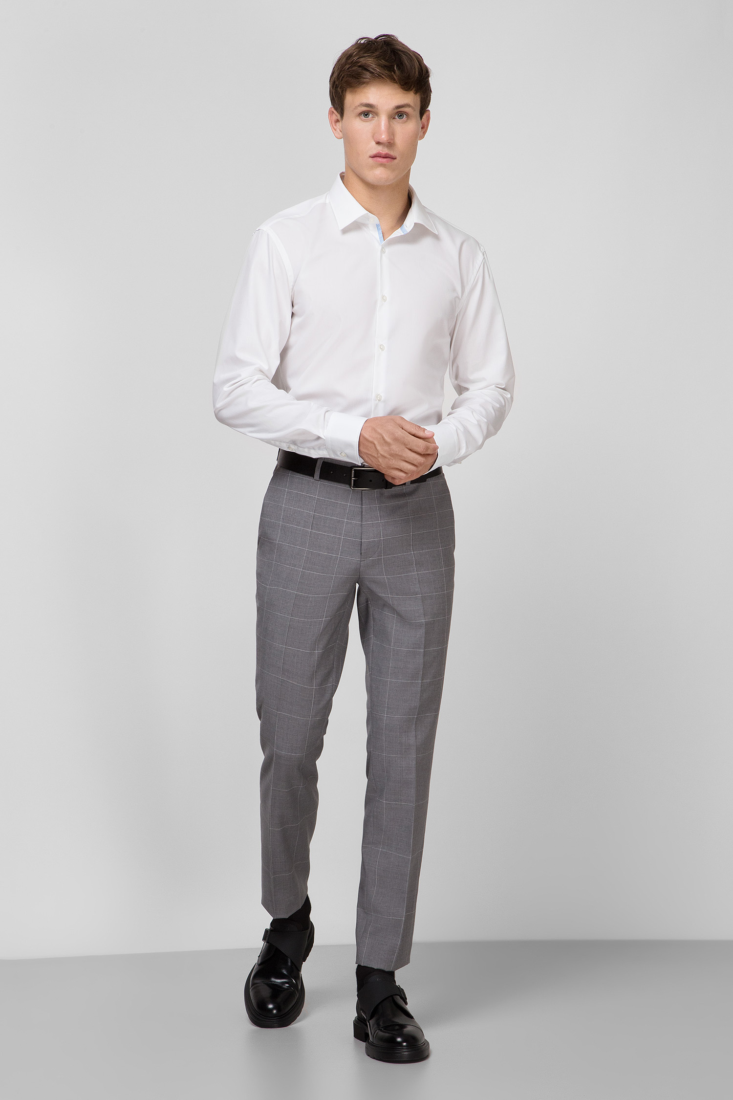 Мужская белая рубашка Slim Fit HUGO 50431377;199