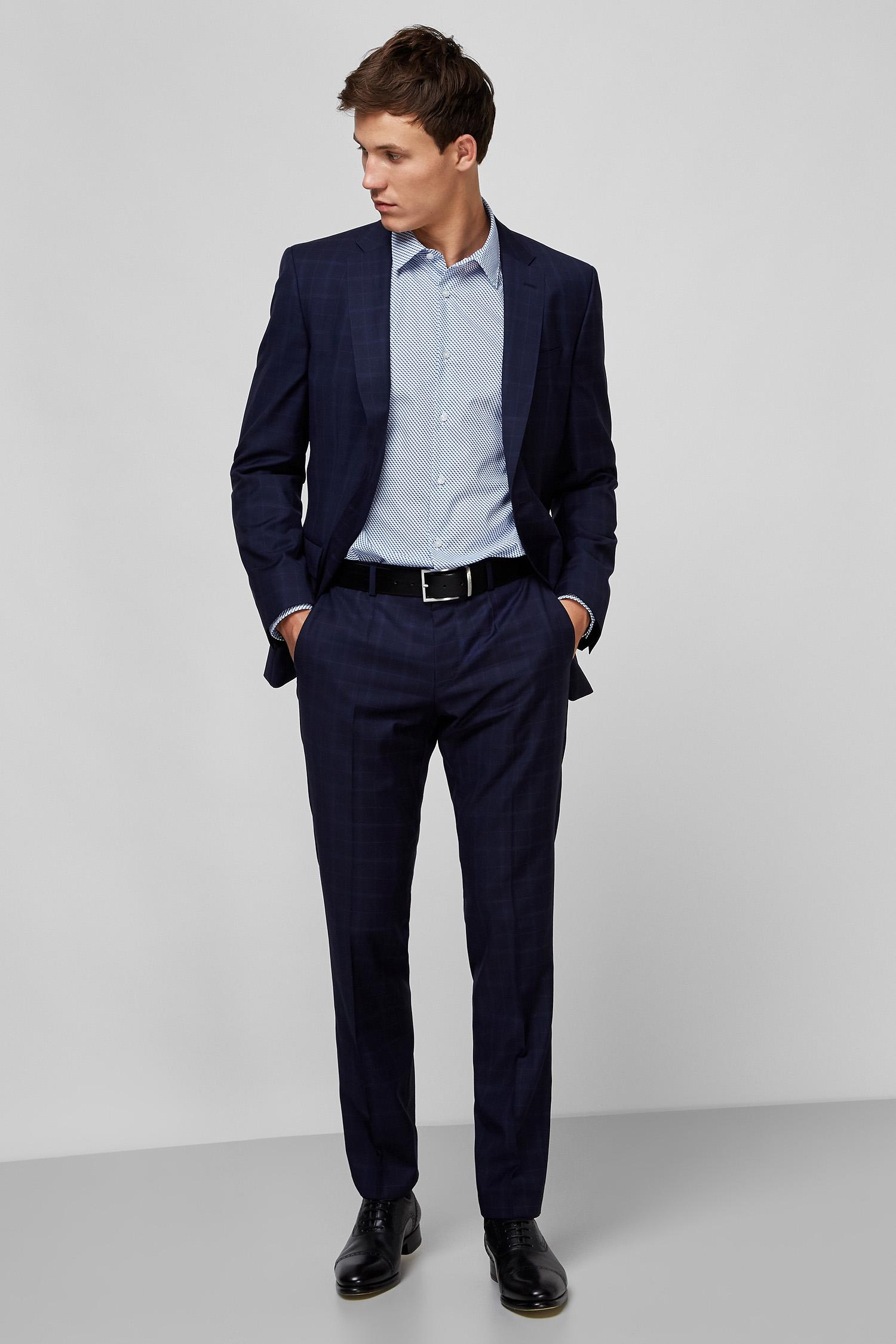 Мужская рубашка с узором Regular Fit BOSS 50432665;420