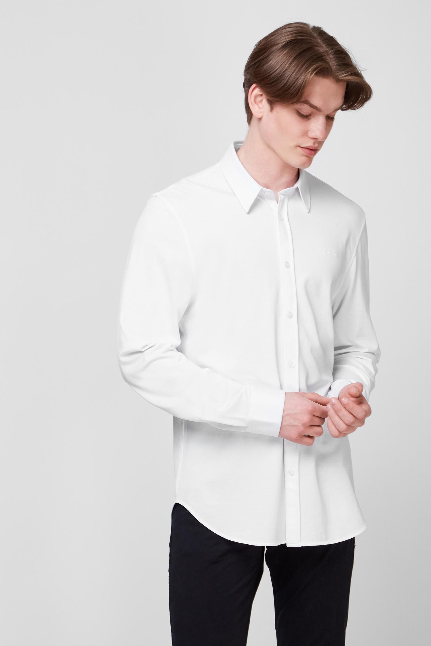 Белая рубашка для парней Guess M1GH20.WDTM0;TWHT