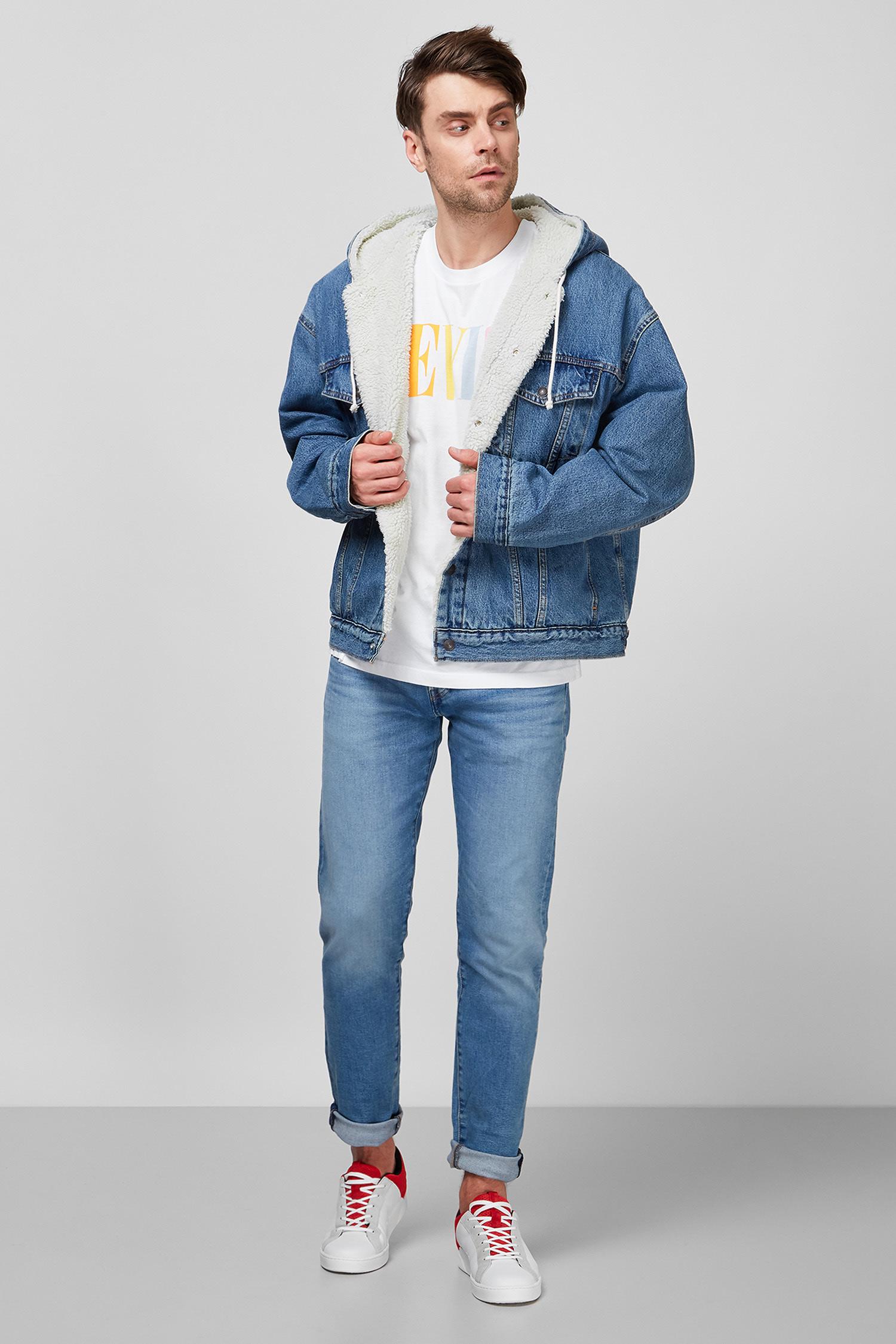 Мужская голубая джинсовая куртка Levi's 85239;0000
