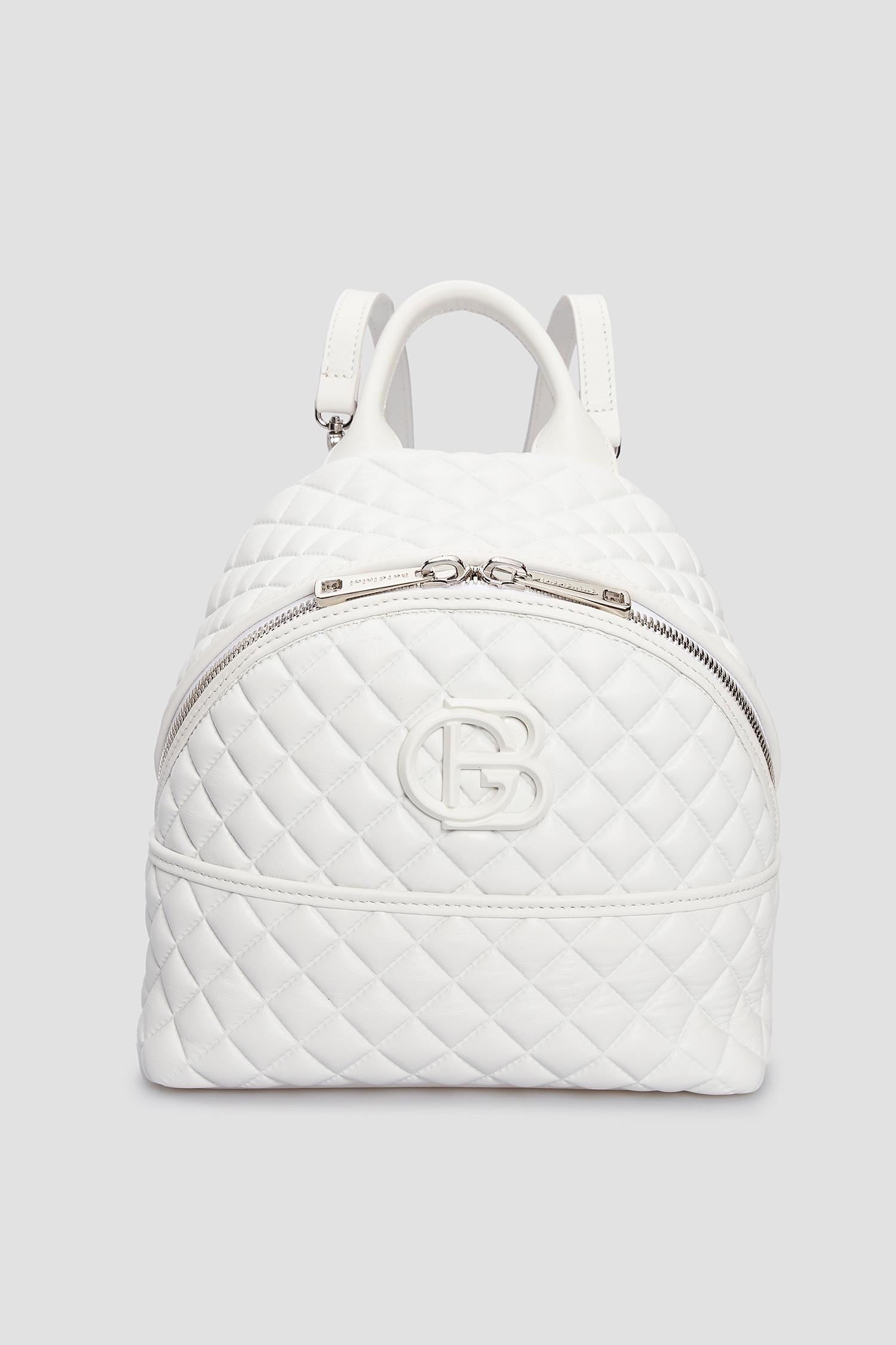 Жіночий білий шкіряний рюкзак Baldinini 170122;9002