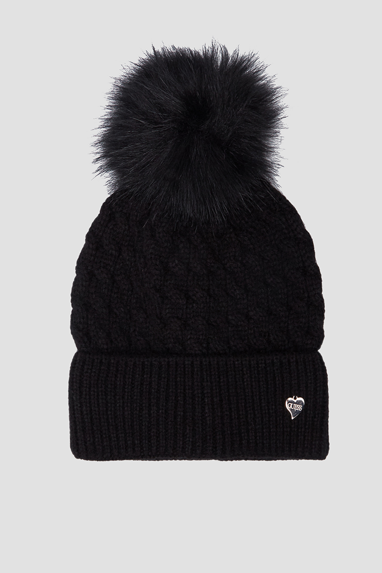 Женская черная шапка Guess AW8201.WOL01;BLA
