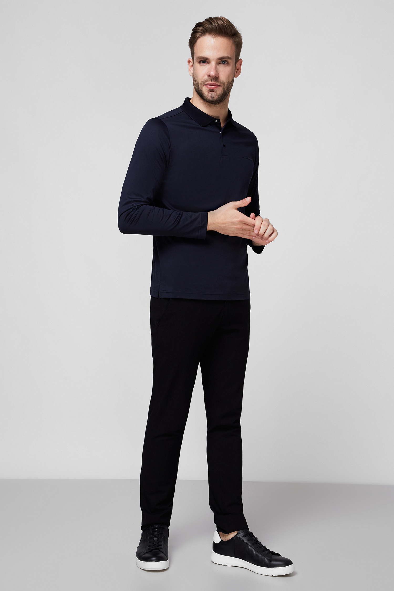 Мужское темно-синее поло Karl Lagerfeld 502200.745000;690