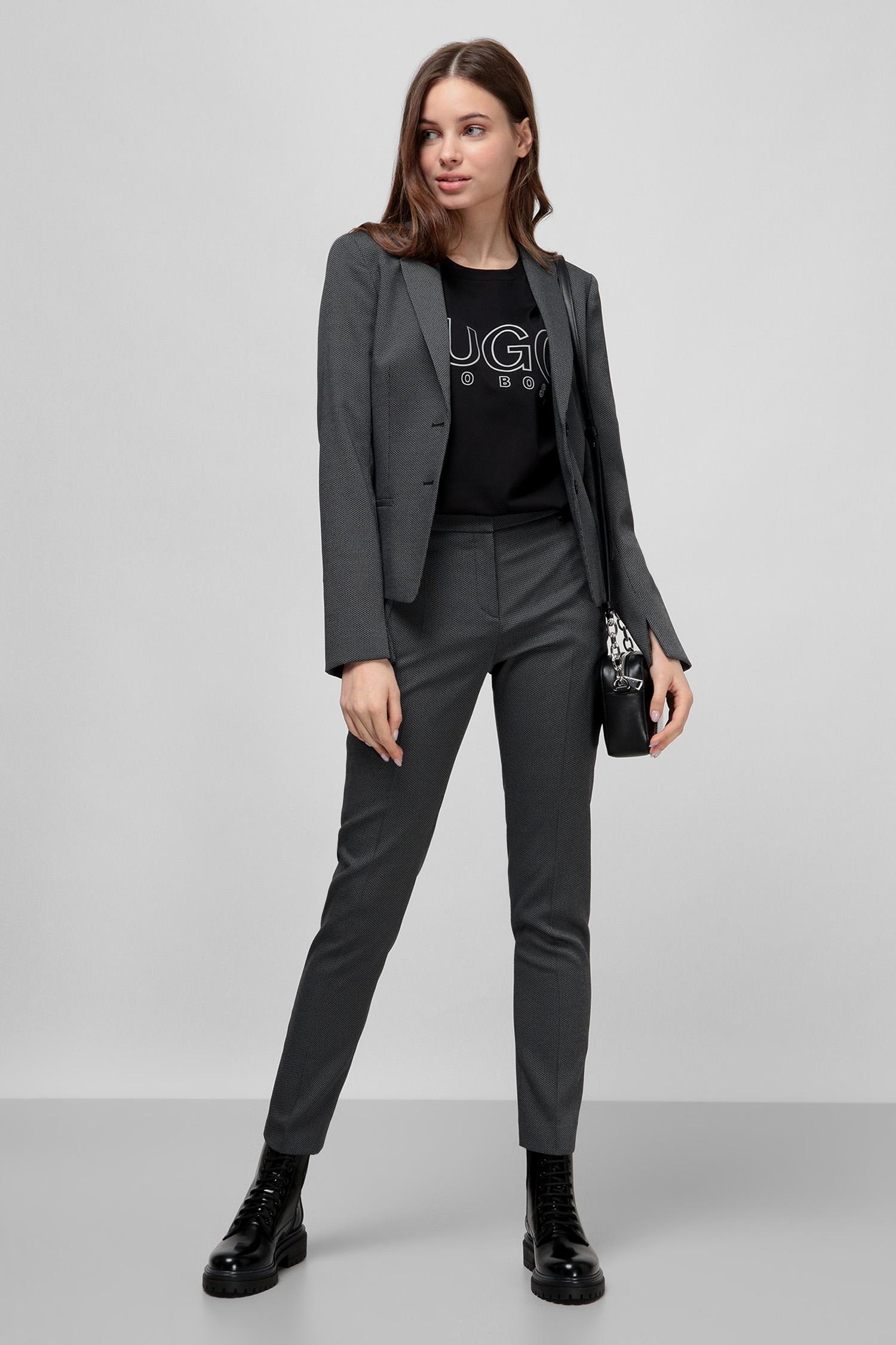 Серые брюки для девушек HUGO 50432565;001