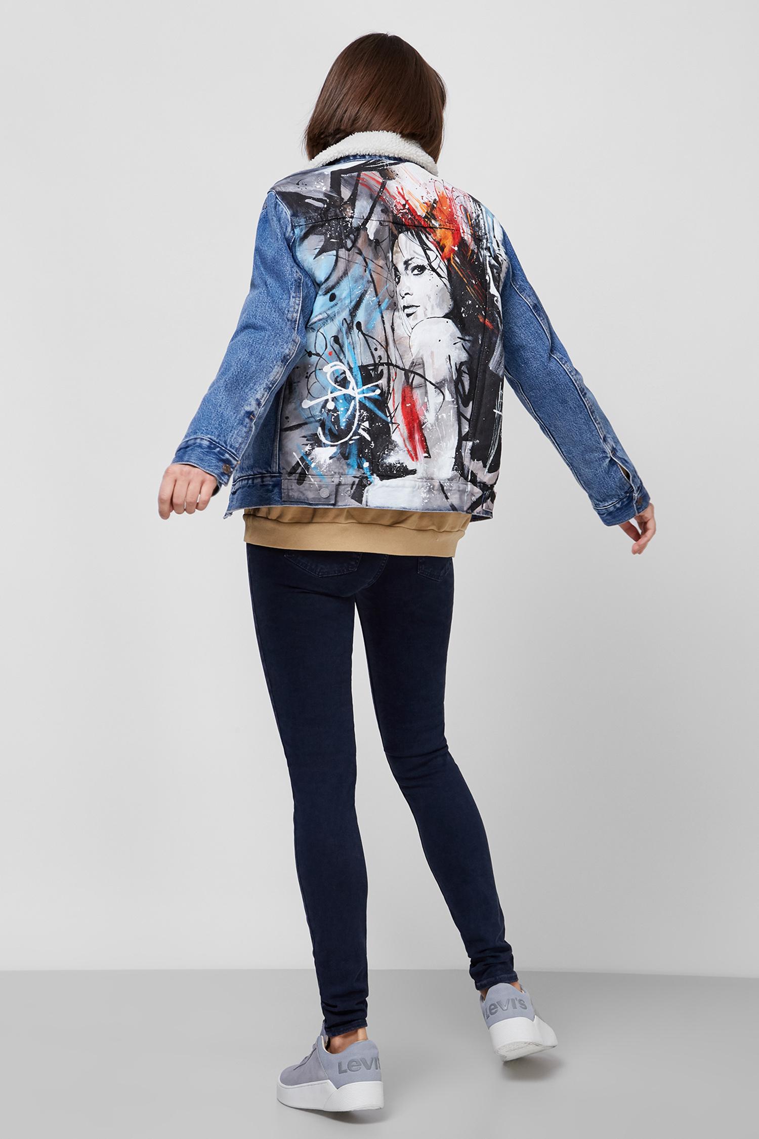 Женская синяя джинсовая куртка Custom Levi's 36137;0005T(6)
