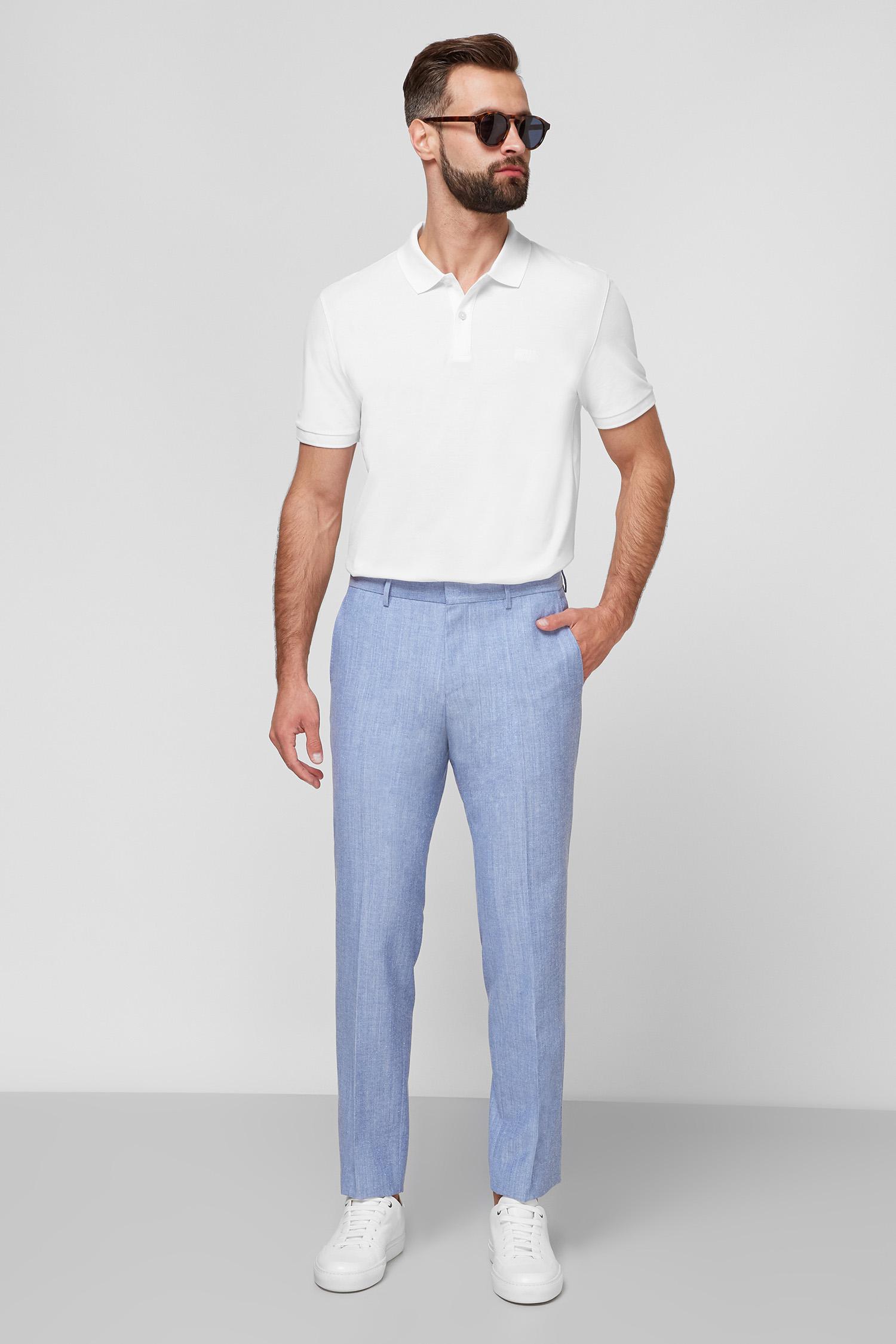 Чоловічі блакитні брюки BOSS 50453699;492