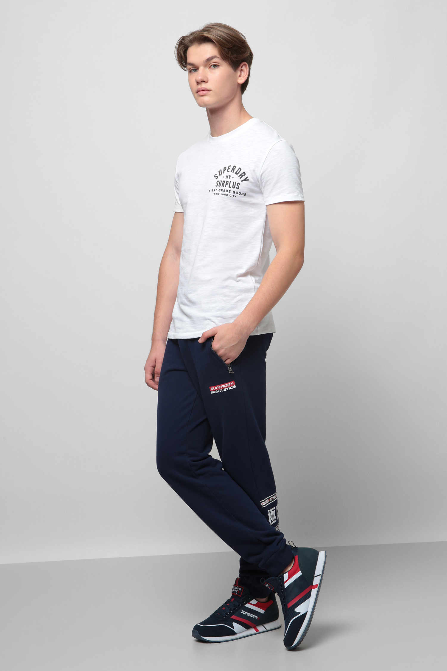 Белая футболка для парней SuperDry M1010254A;01C