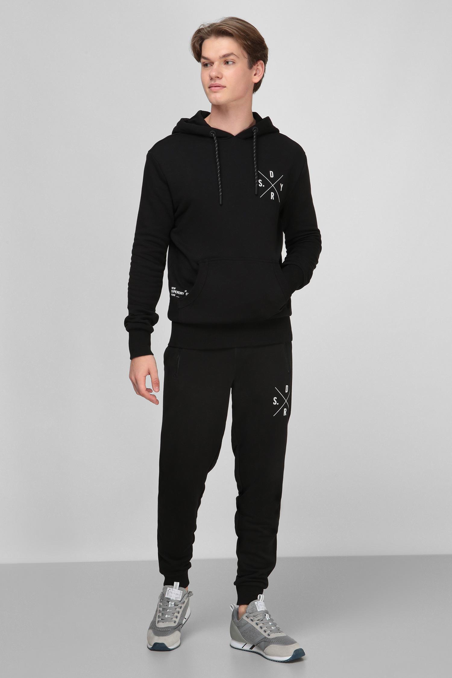Черные спортивные брюки для парней SuperDry M7010211A;02A