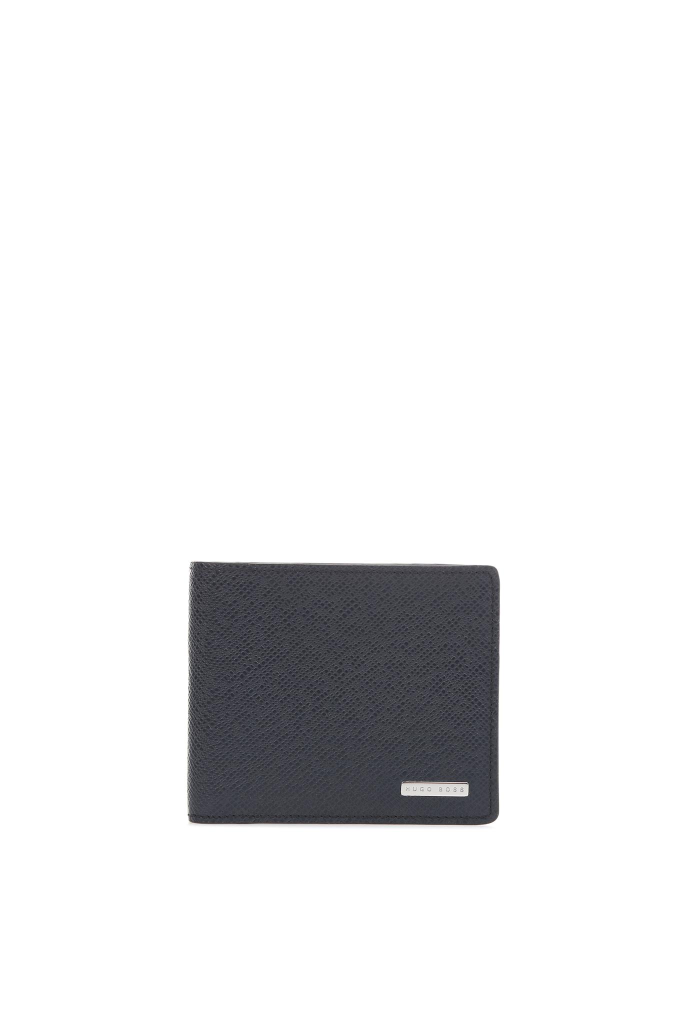 Мужской синий кожаный кошелек BOSS 50311737;401