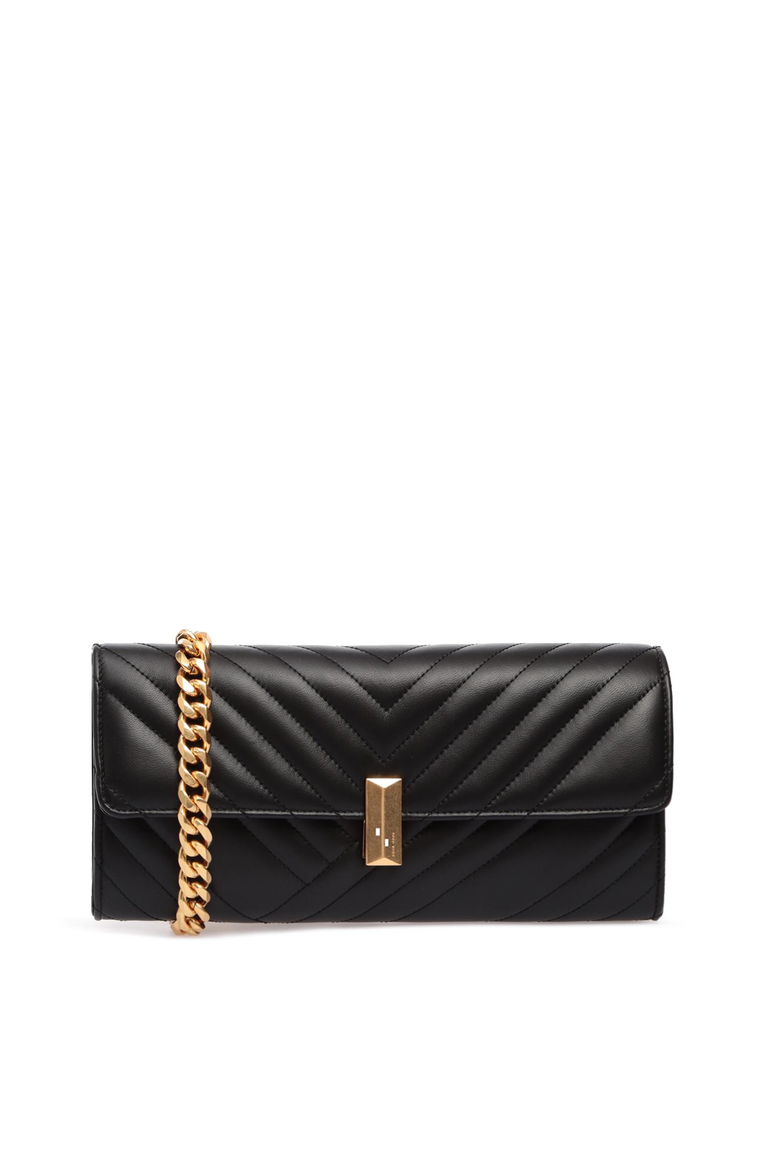 Женская черная кожаная сумка через плечо BOSS 50424361;001