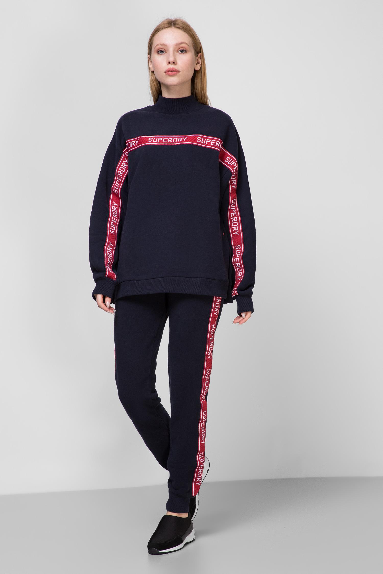 Женские темно-синие спортивные брюки SuperDry W7000046A;00S