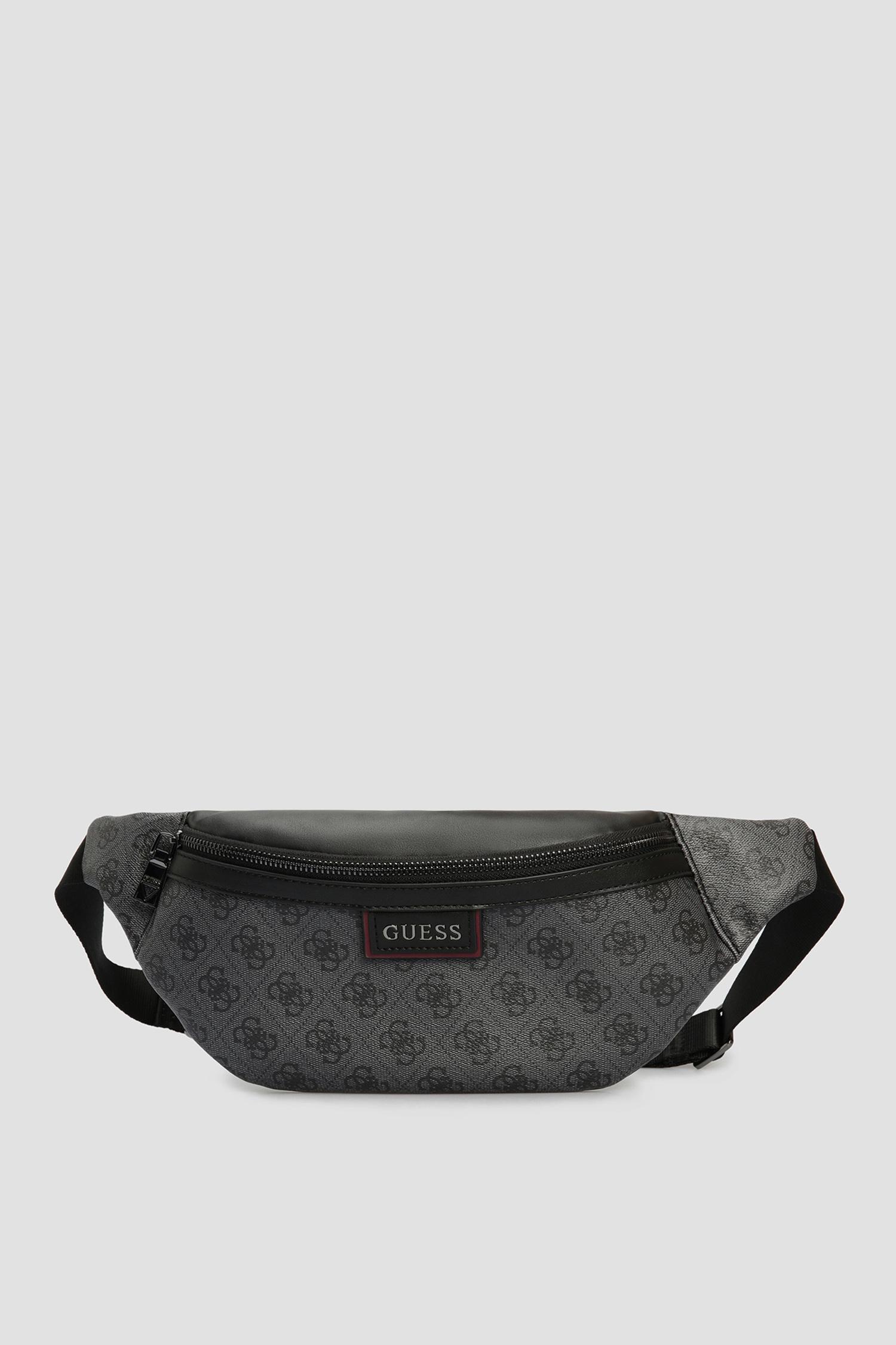 Мужская темно-серая поясная сумка Guess HMVEZL.P1130;BLA