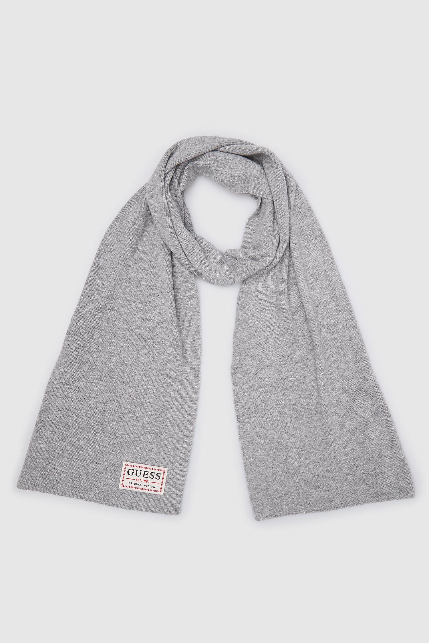 Серый шарф для парней Guess AM8732.WOL03;GRY
