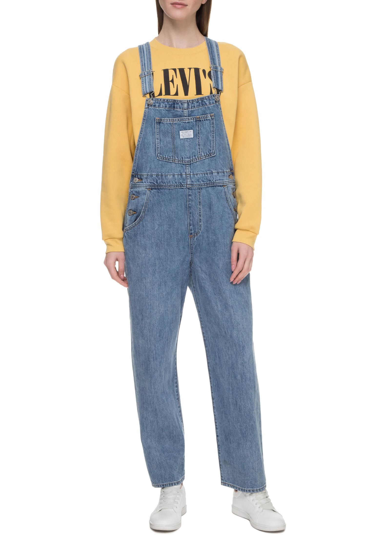 Жіночий синій джинсовий комбінезон Levis 85315;0001