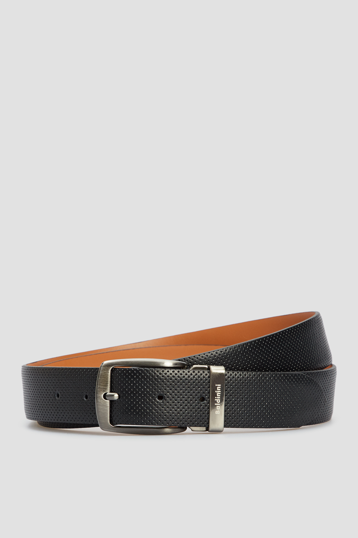 Мужской черный кожаный ремень Baldinini 174006;00