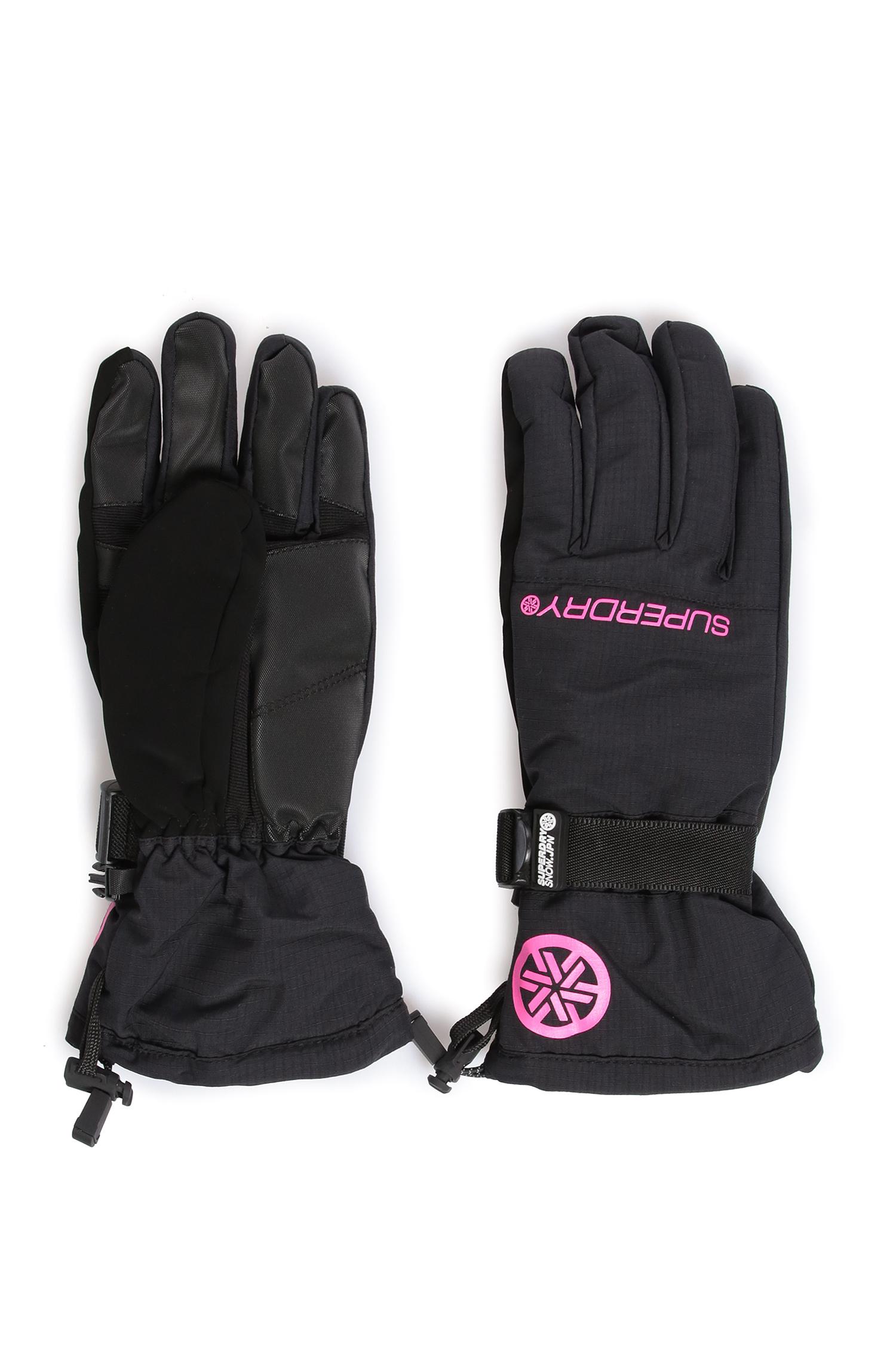 Женские черные перчатки SuperDry GS2100SU;UHL