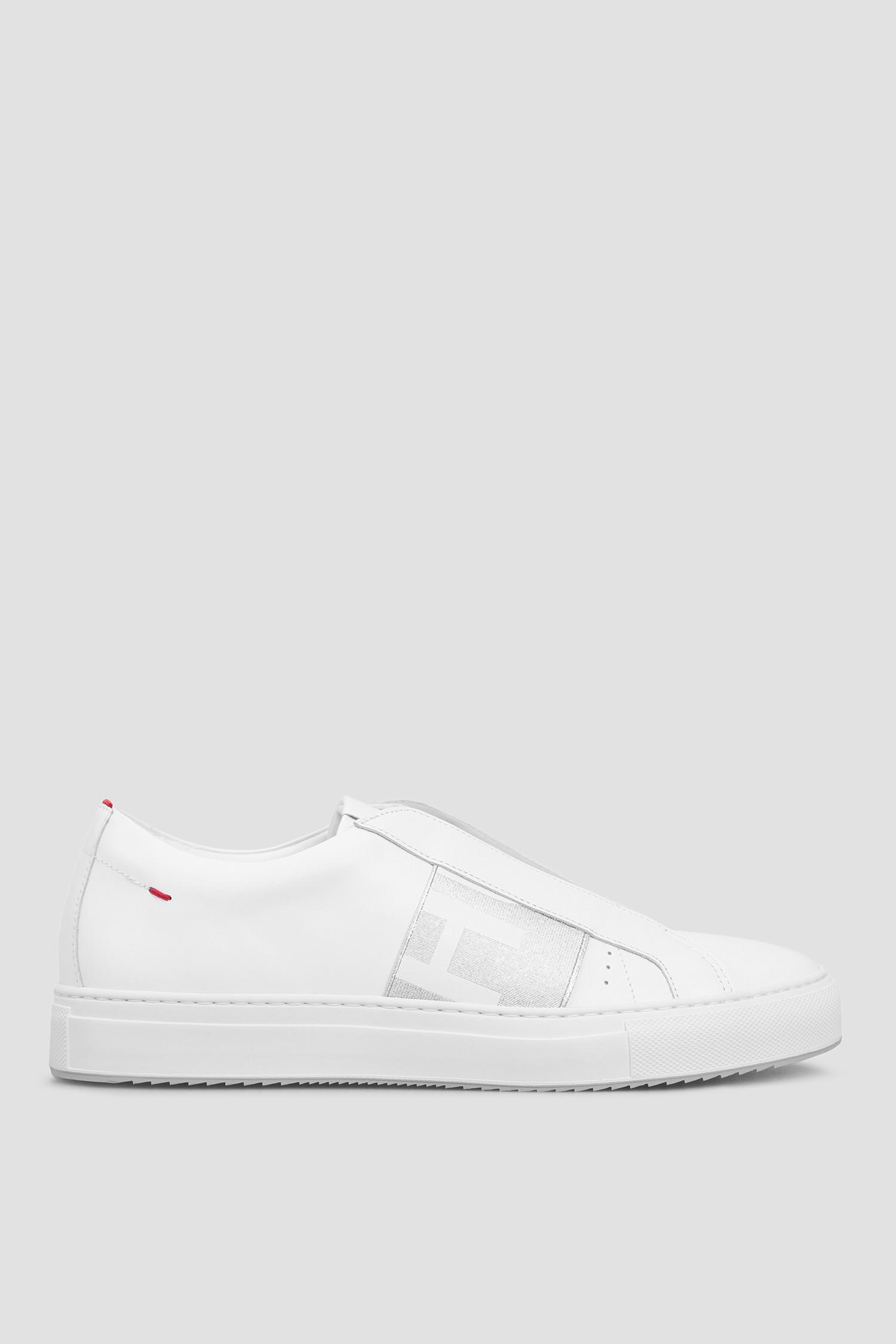 Женские белые кожаные сникеры HUGO 50435384;048