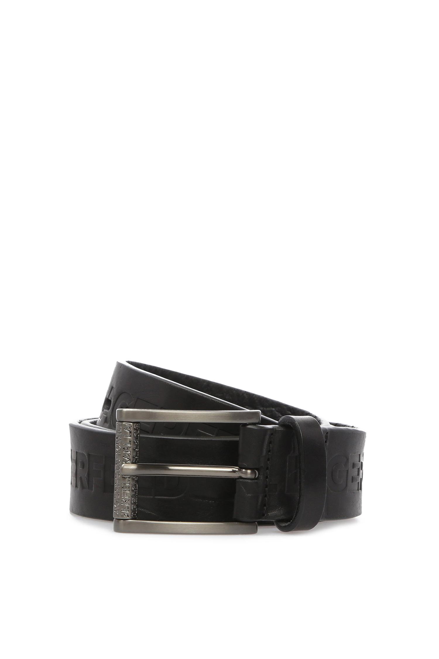 Мужской черный кожаный ремень Karl Lagerfeld 591448.815300;990