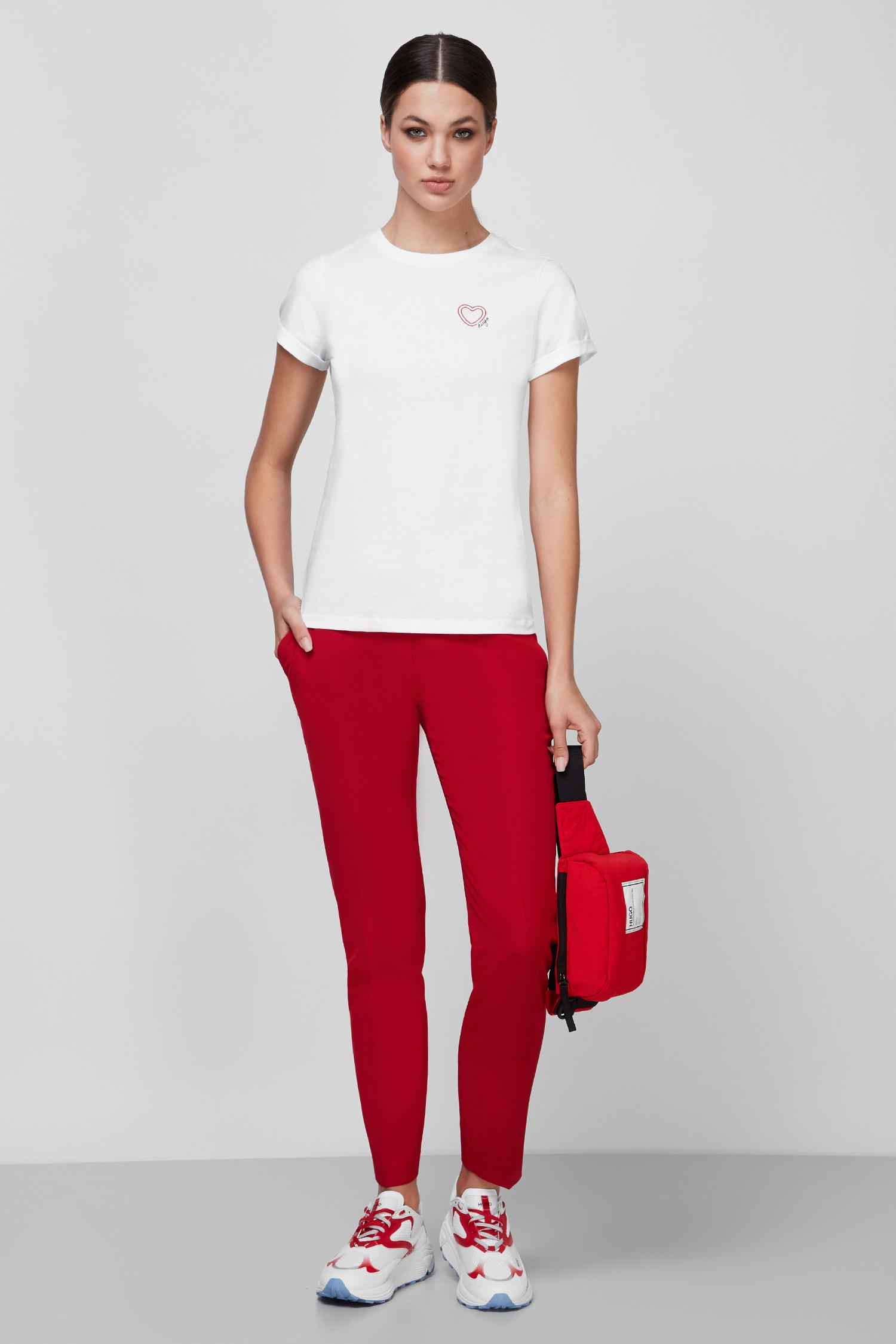 Женская белая футболка HUGO 50449862;100