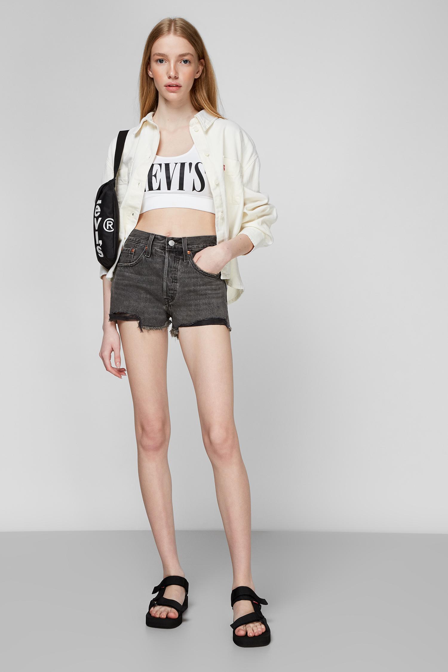 Сірі джинсові шорти 501 High Rise Taille Haute для дівчат Levis 56327;0070